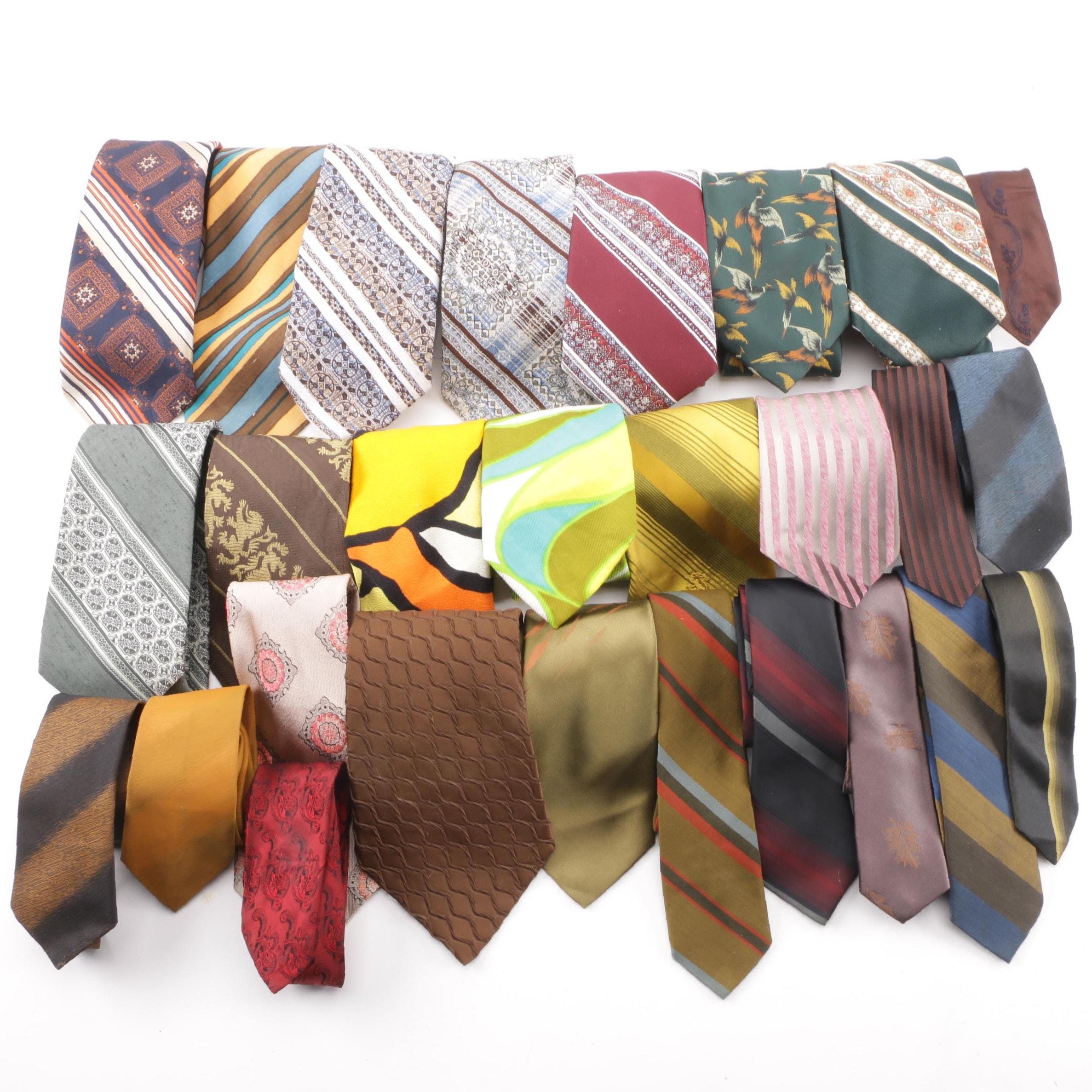 Men's Vintage Neckties including Johnny Carson and Wieboldt's
