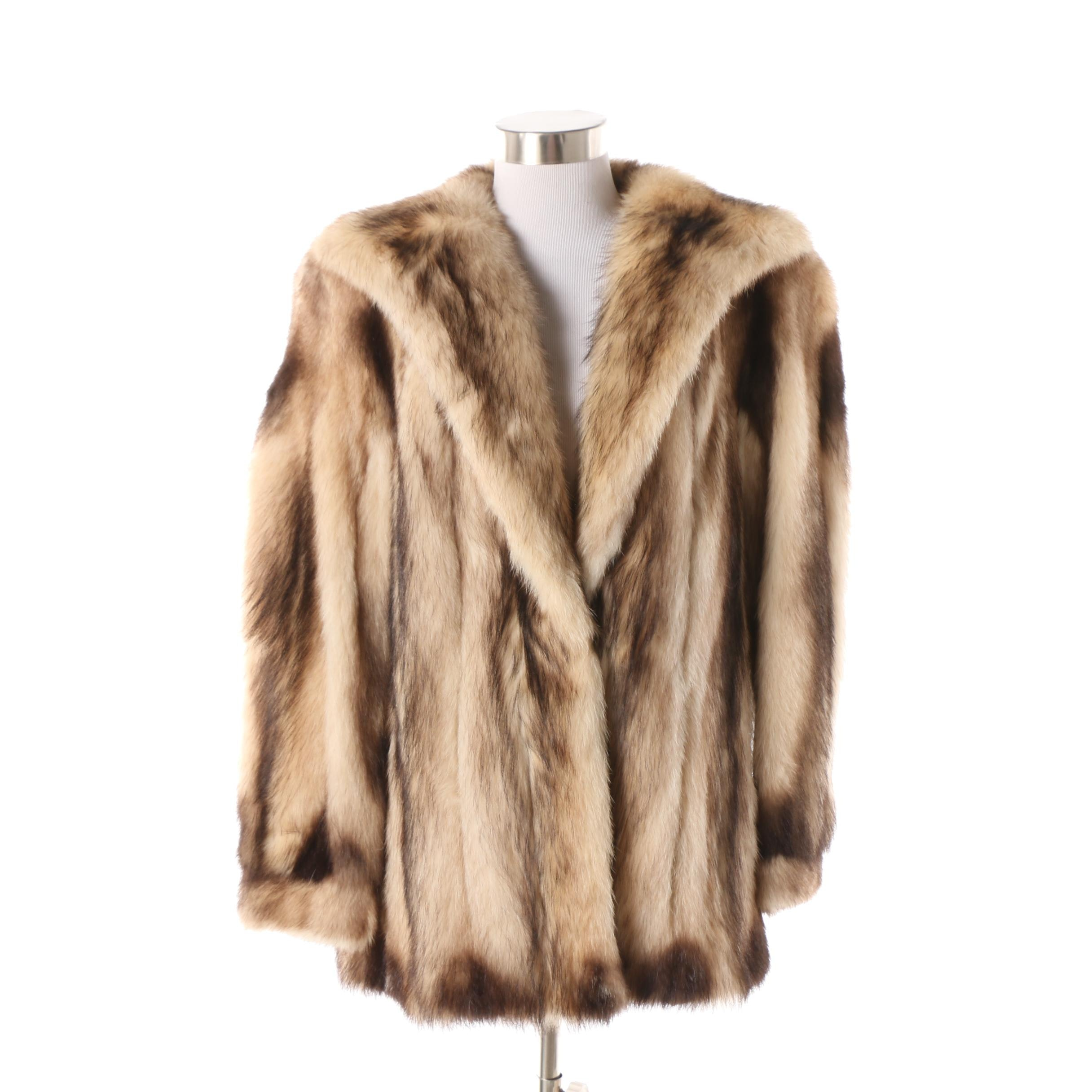 Women's 1970s Vintage Fitch Fur Coat