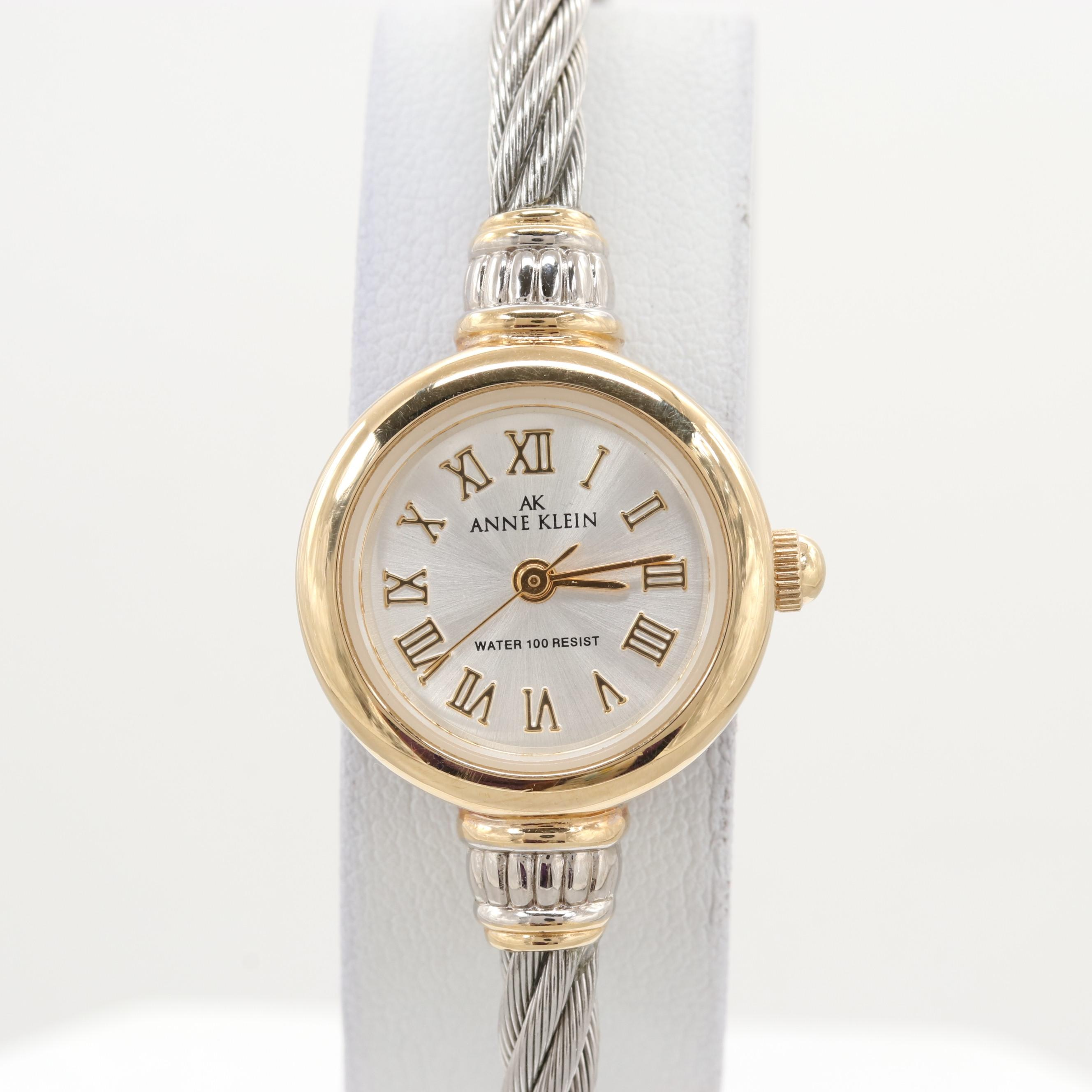 Anne Klein Two-Tone Cable Cuff Quartz Wristwatch