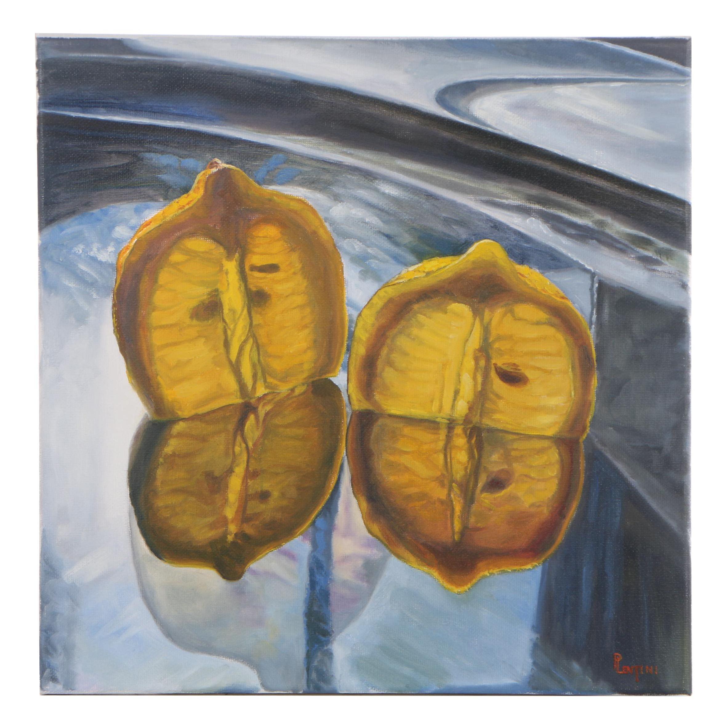 "Peter Lentini Still Life Oil Painting ""Pips"""