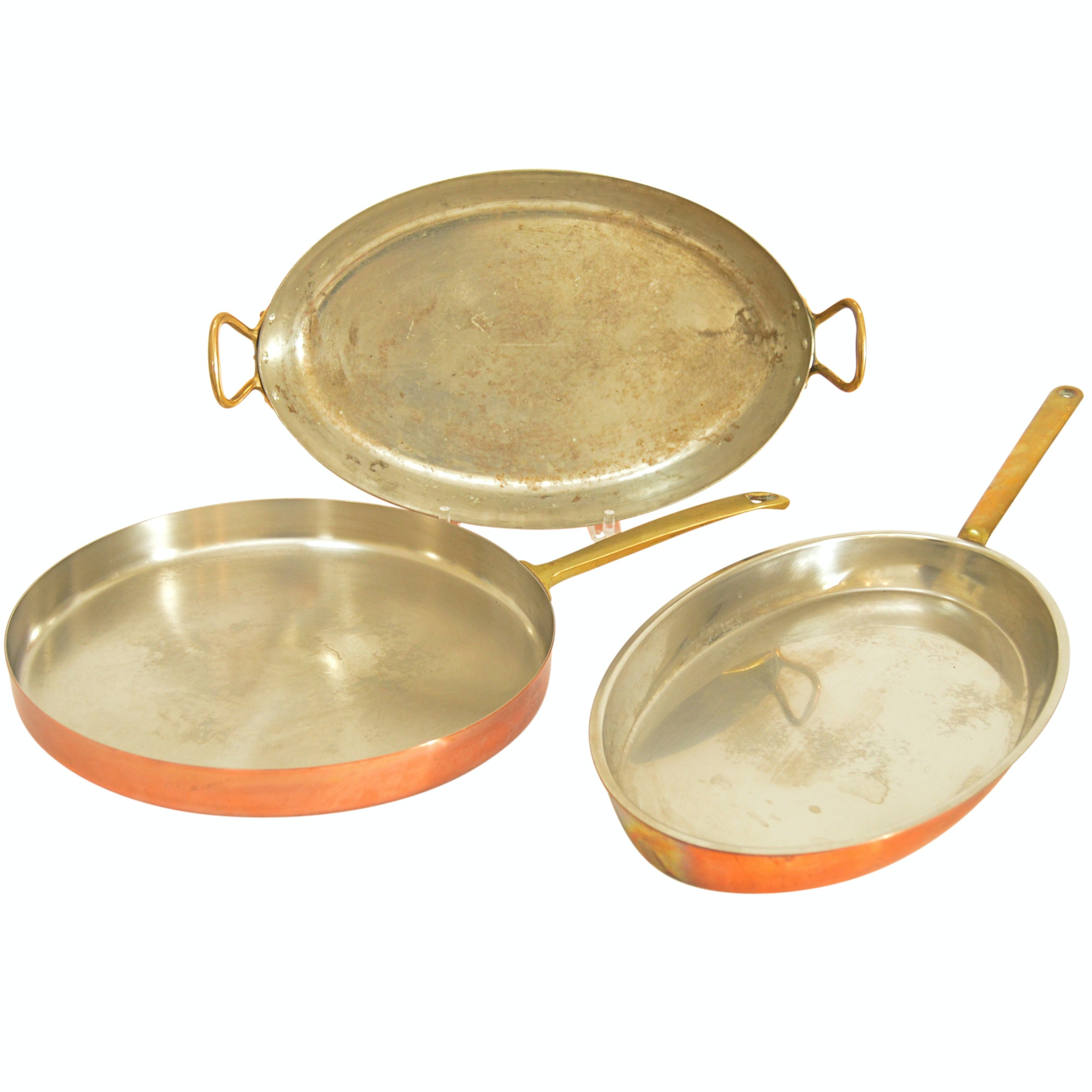 French and Swiss Copper Saute Pans