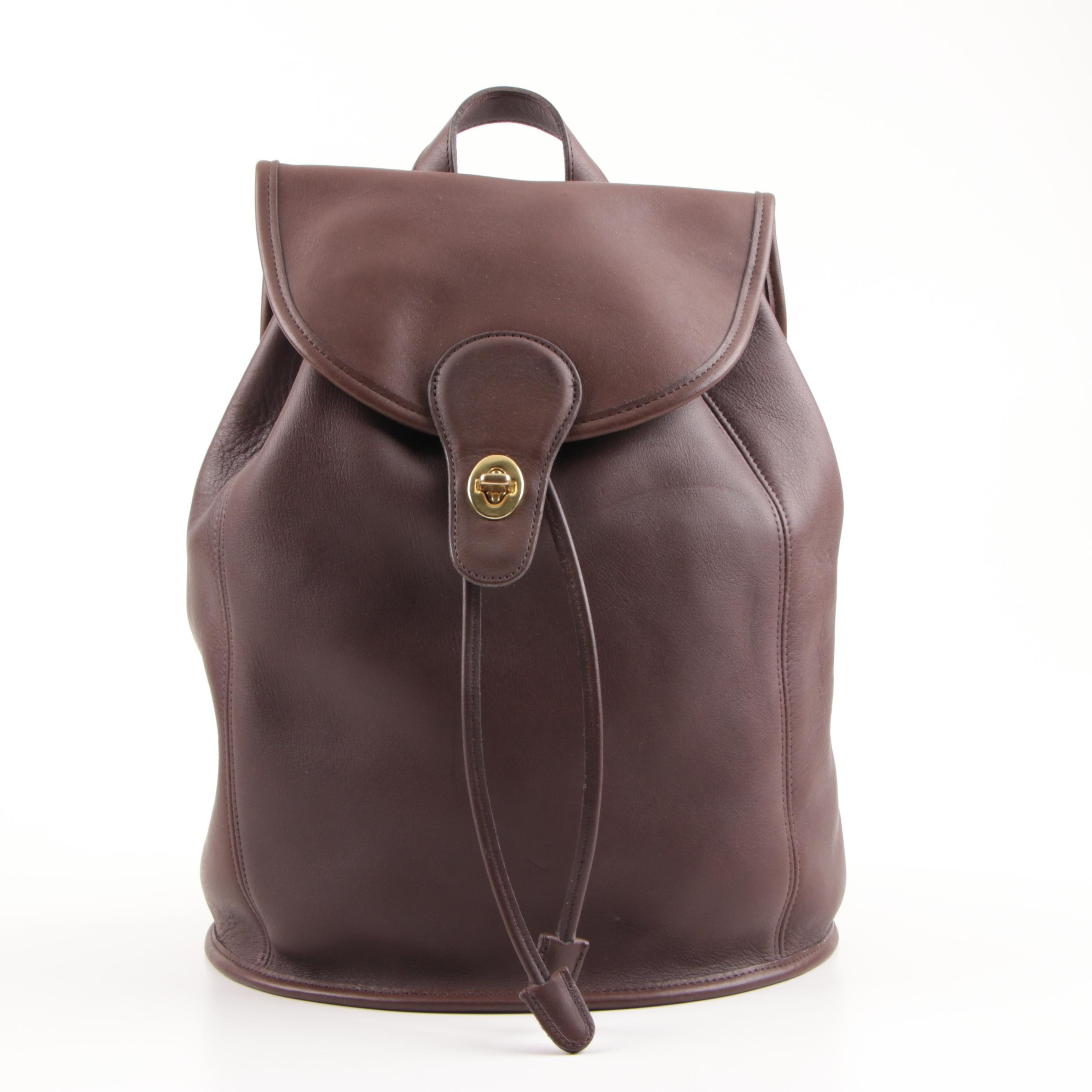 1995 Coach Classic Brown Leather Backpack