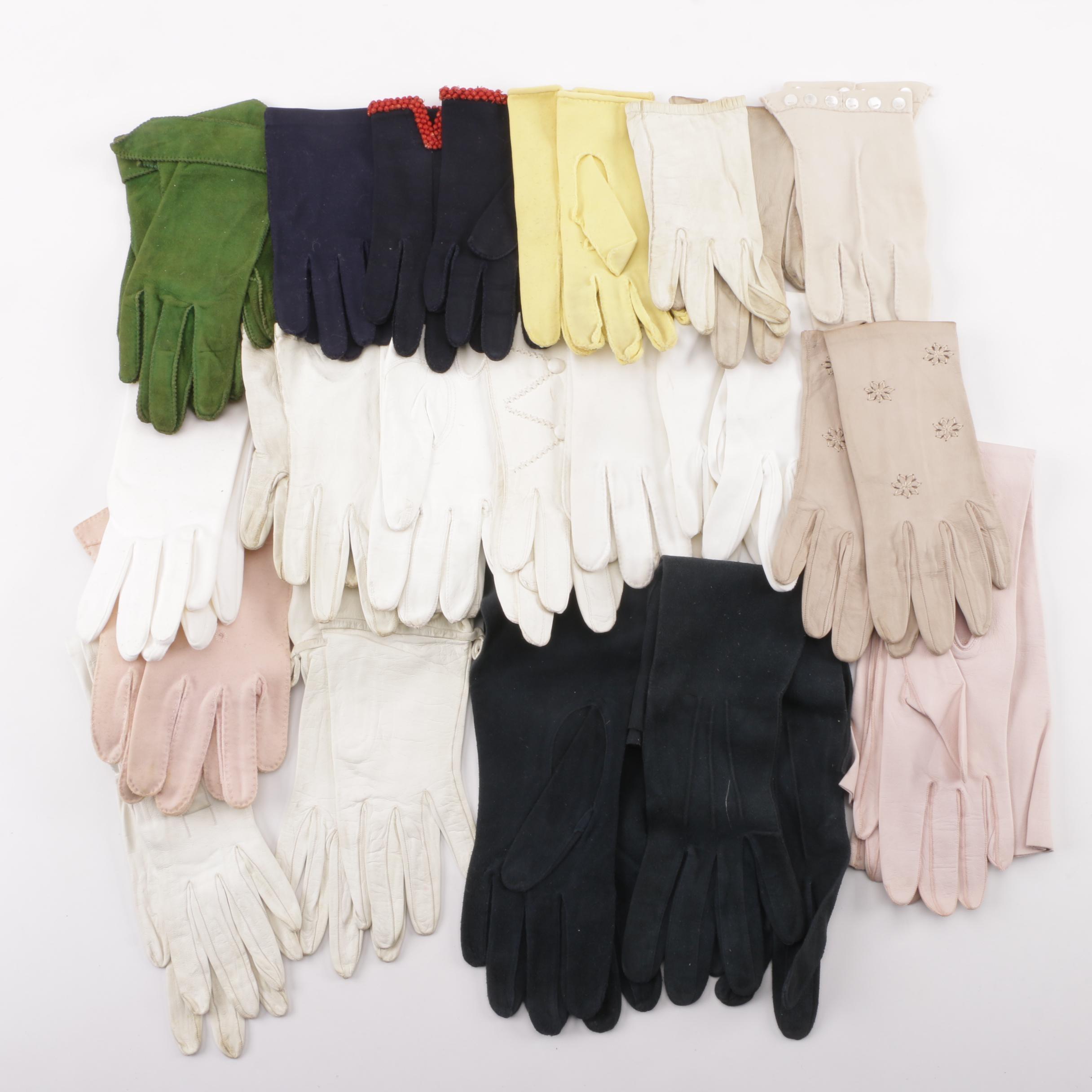 1950s Vintage Formal and Day Gloves including Lionel de Grand Paris