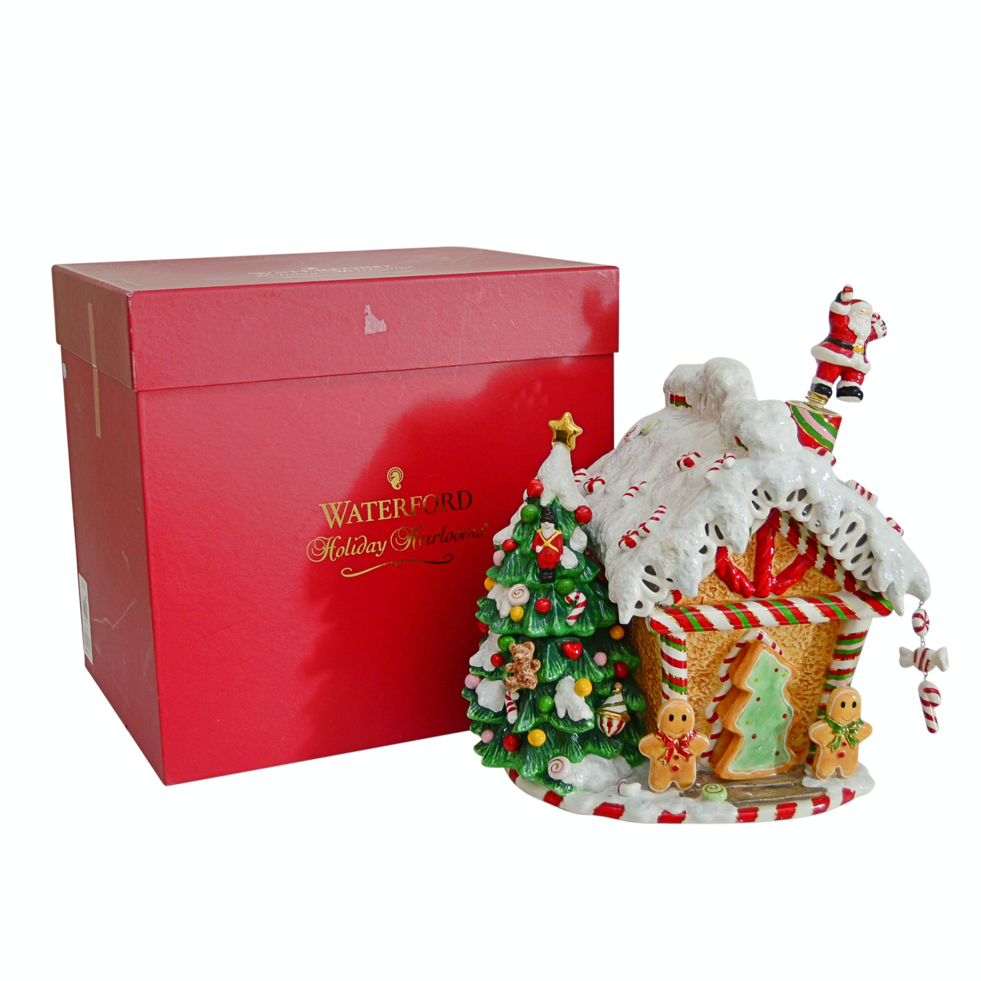 Waterford Holiday Heirloom Gingerbread House Cookie Jar