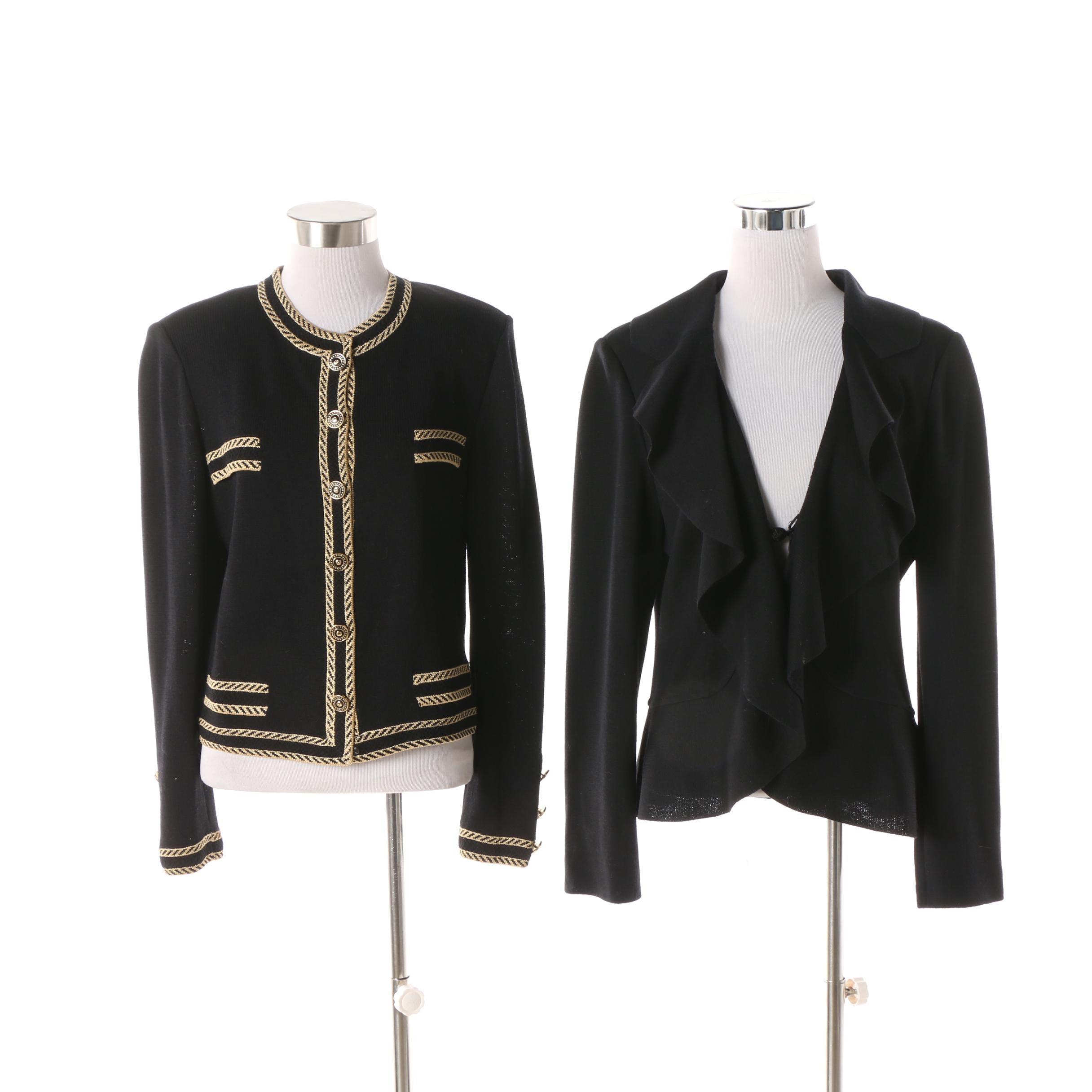 St. John Brands Black Knit Jackets