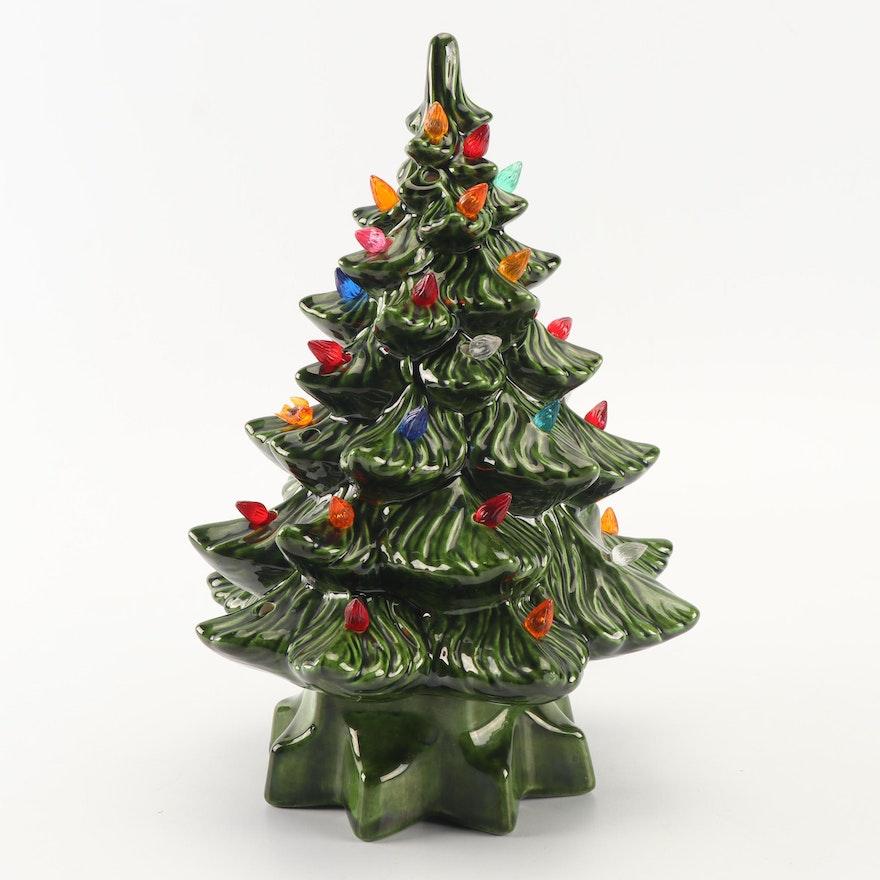 Hand-Painted Ceramic Christmas Tree Light : EBTH