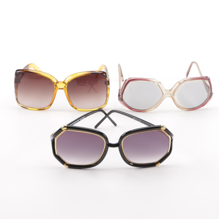 f8ead603fd Women s Vintage Oversized Square Sunglasses Including Ted Lapidus Paris ...