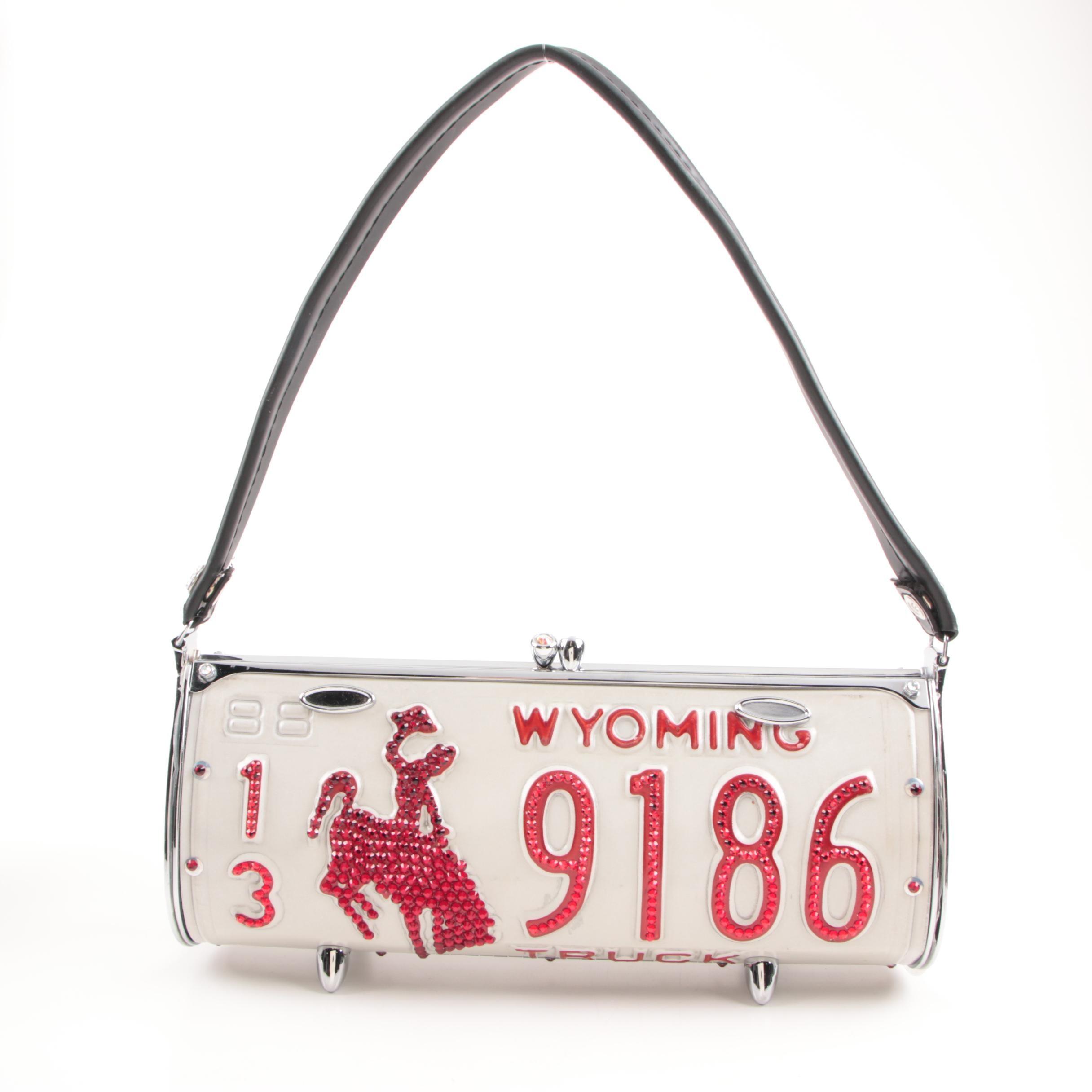 Littlearth RoadFlair License Plate Bag with Swarovski Crystal Embellishments