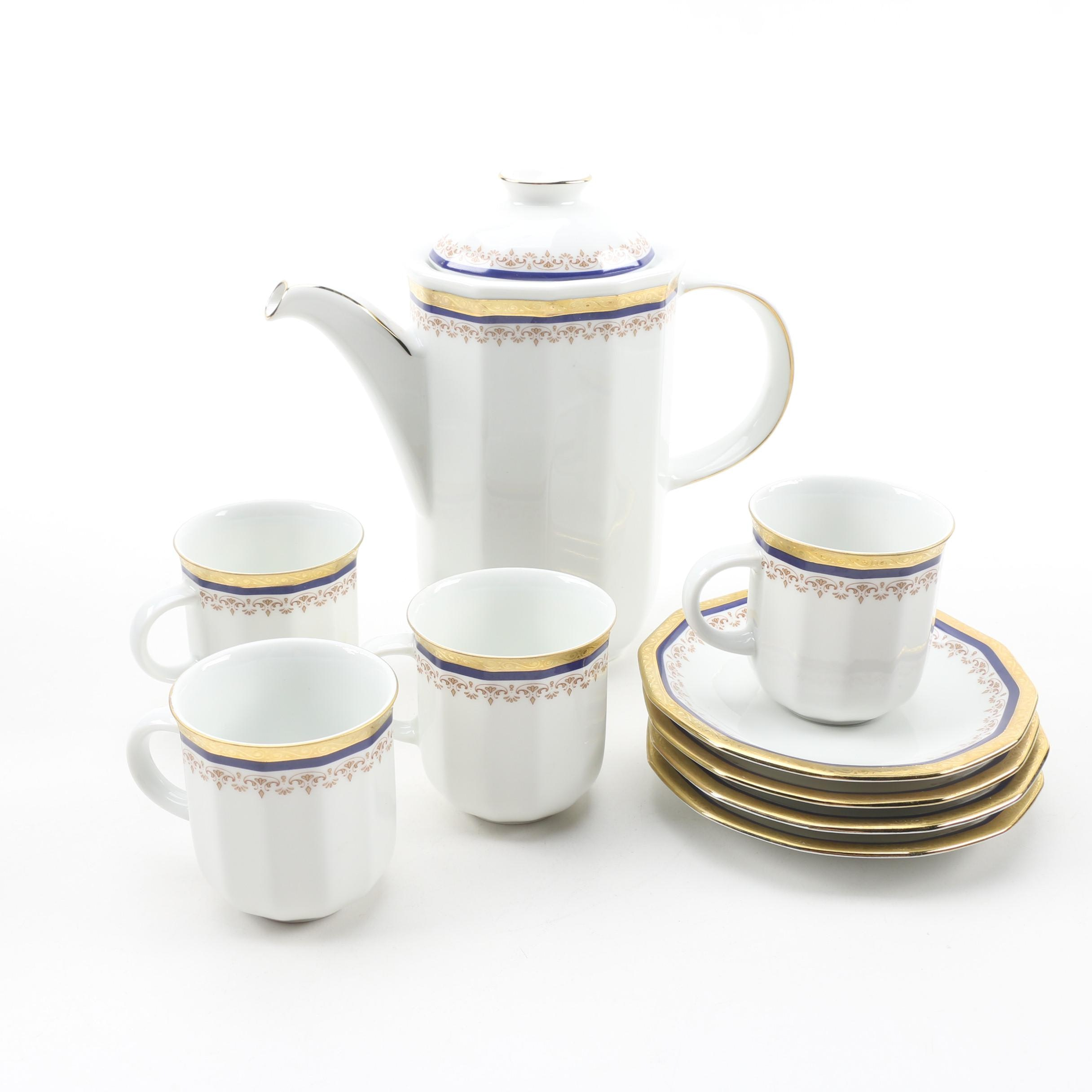 Tirschenreuth German Porcelain Demitasse Set