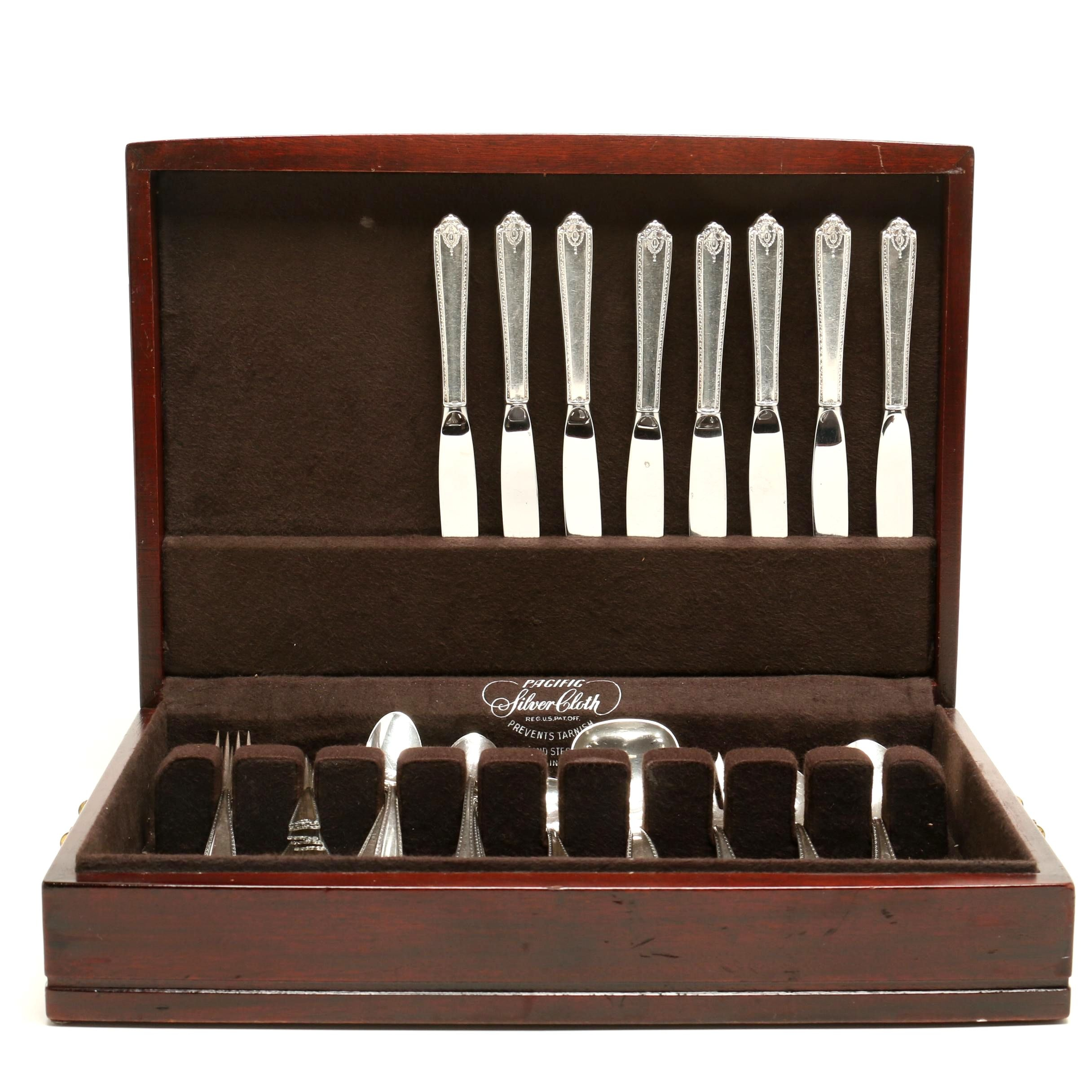 "Westmorland ""Lady Hilton"" Sterling Silver Flatware in Case"