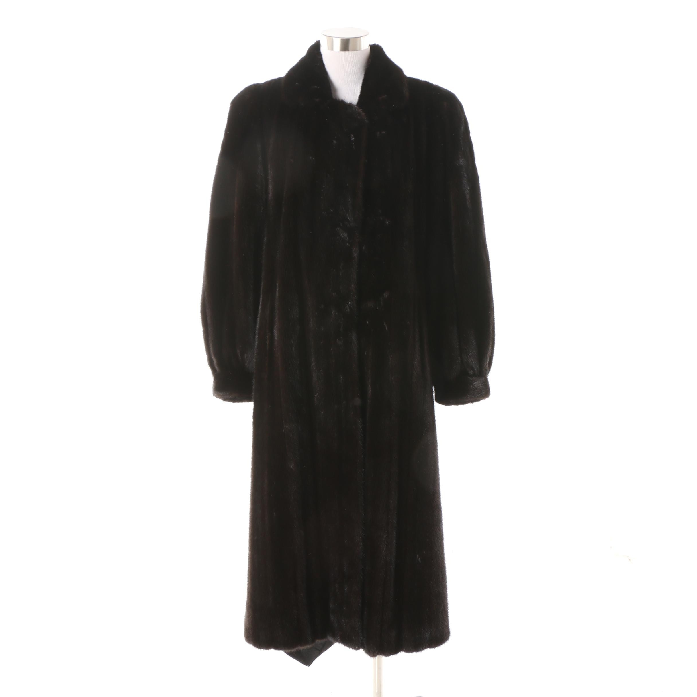 Women's 1980s Vintage Mink Fur Coat by The Evans Collection