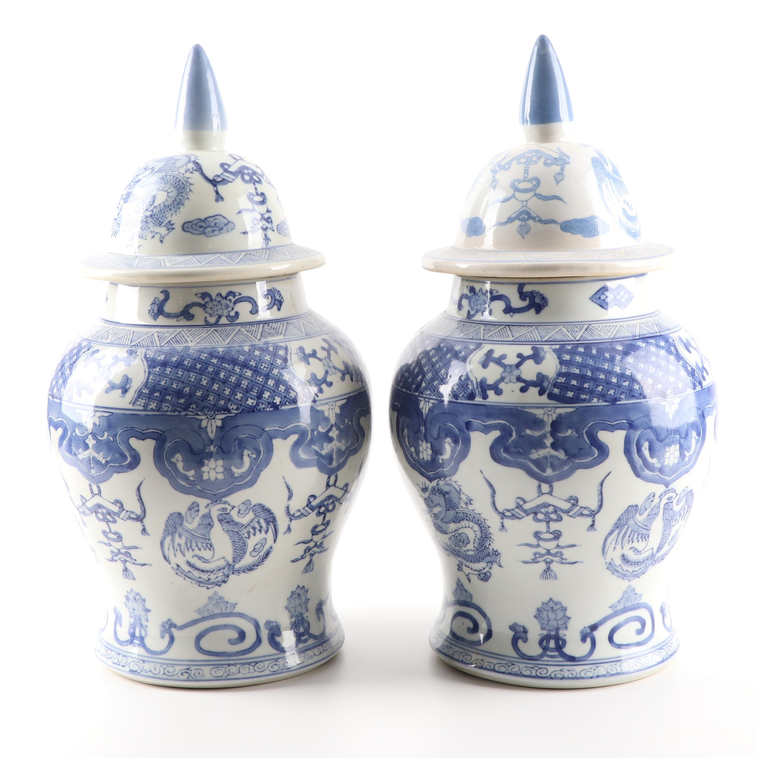 Chinese Porcelain Ginger Jars