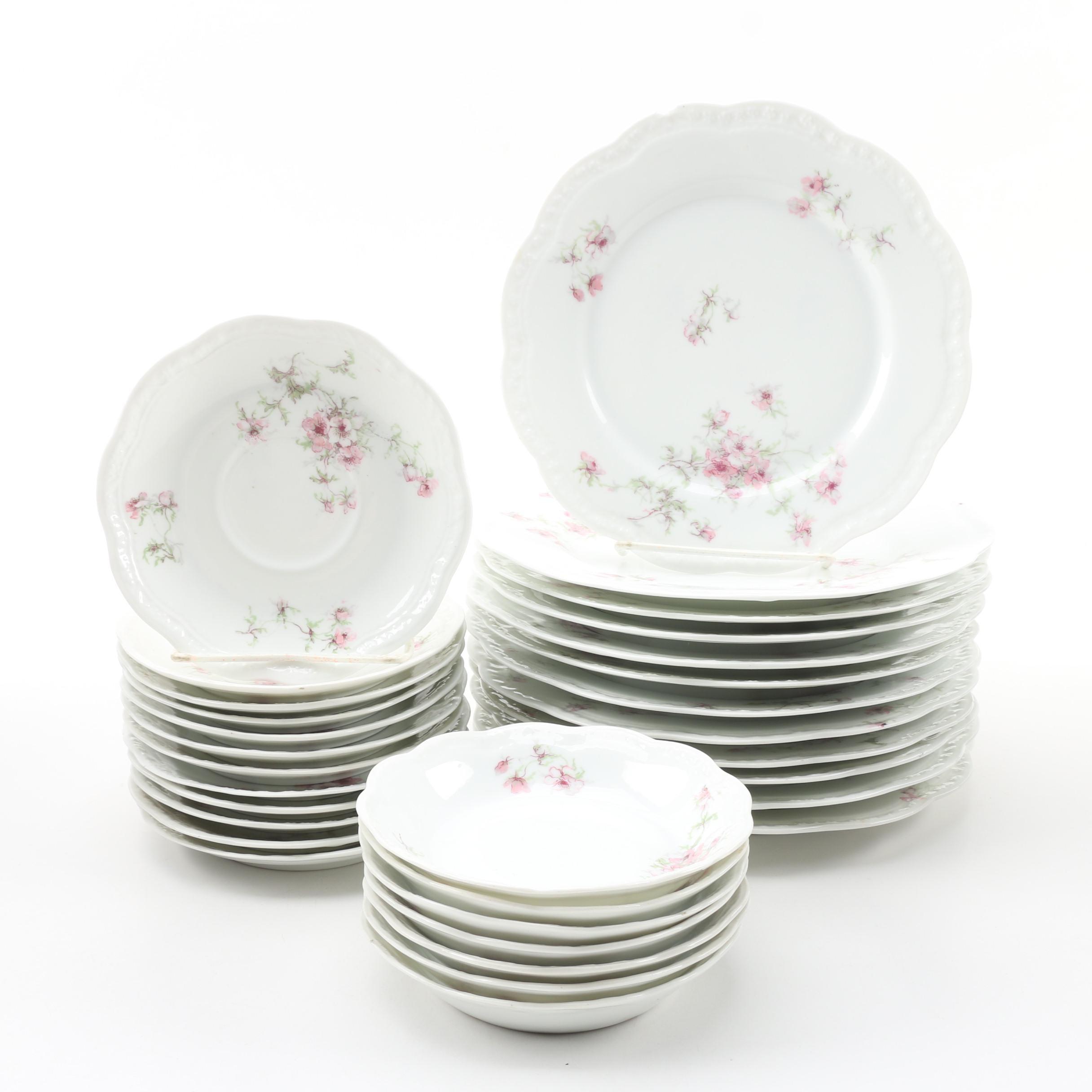 A. Lanternier Limoges Porcelain Dinnerware, circa 1891-1914