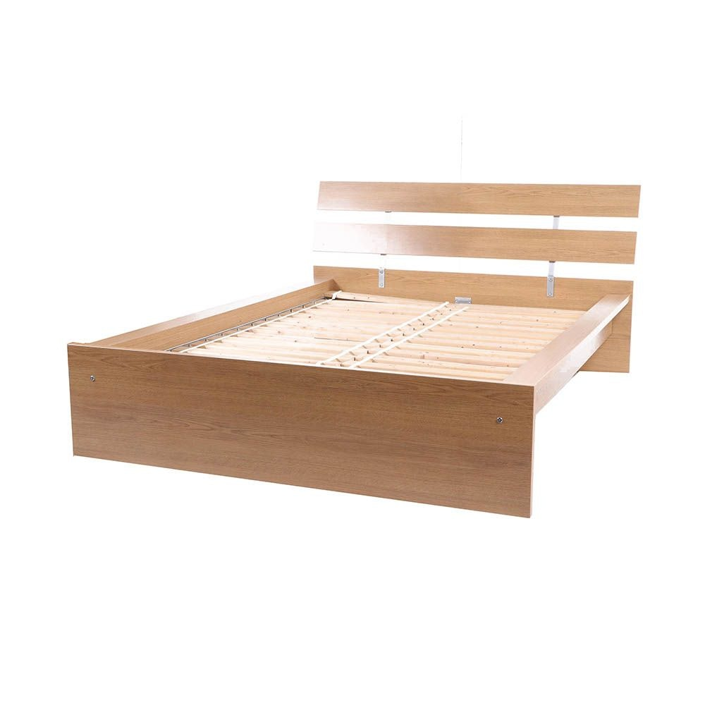 """Hopen"" Wooden Queen Size Bed Frame by IKEA, 21st Century"