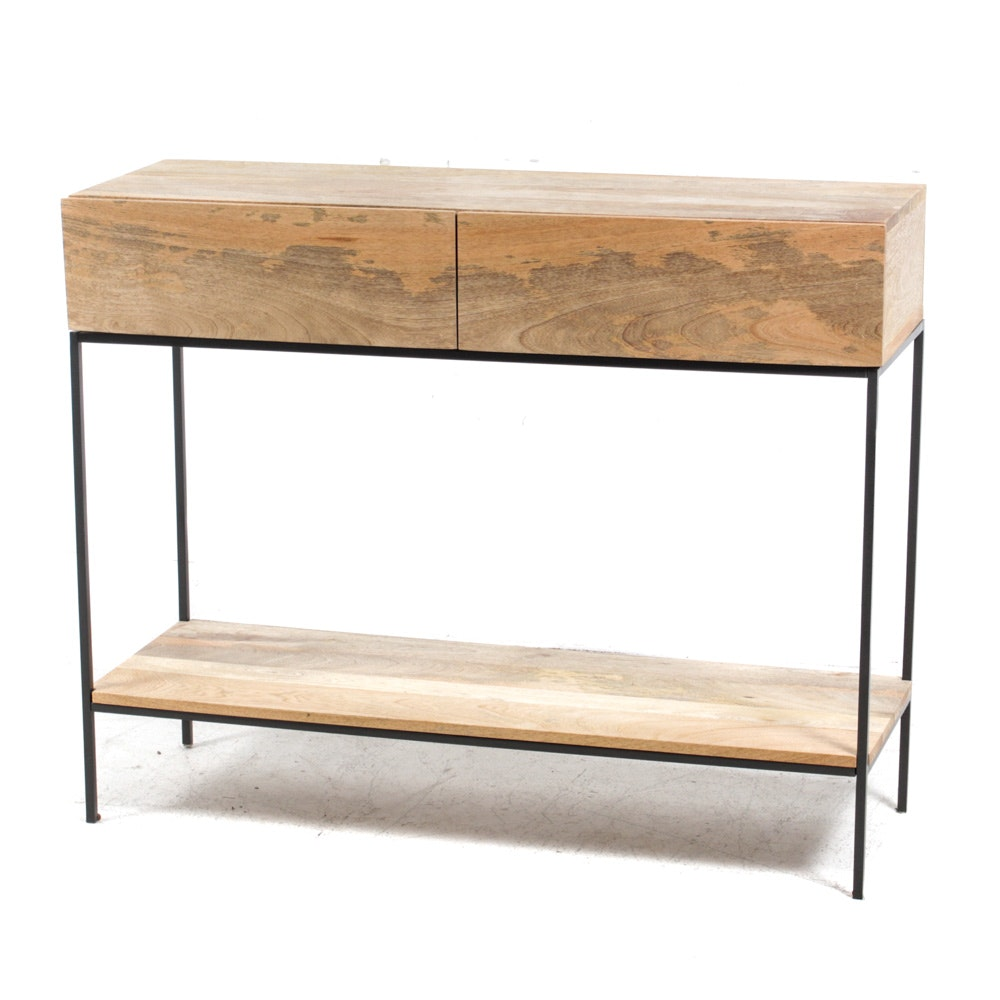 West Elm Mango Wood Console Table