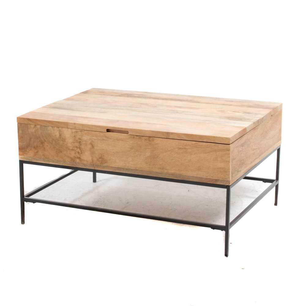 West Elm Mango Wood Pull-Top Coffee Table