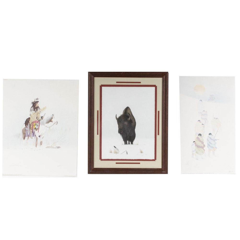 Donald Vann Prints of Native American Figures