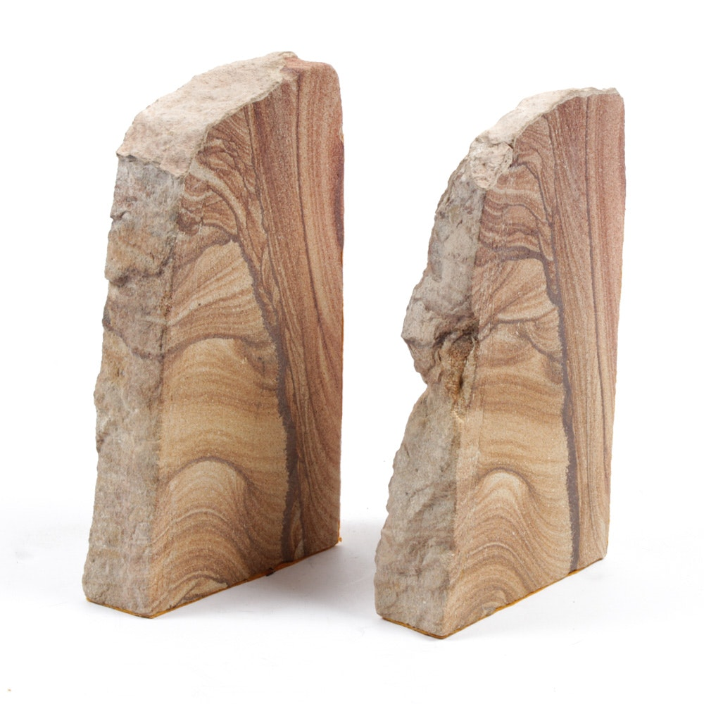 Natural Sandstone Bookends