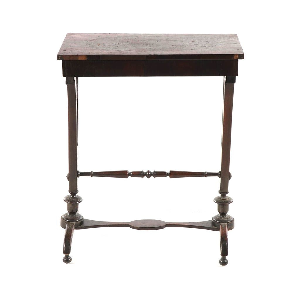Federal Style Mahogany Veneered Side Table, 20th Century