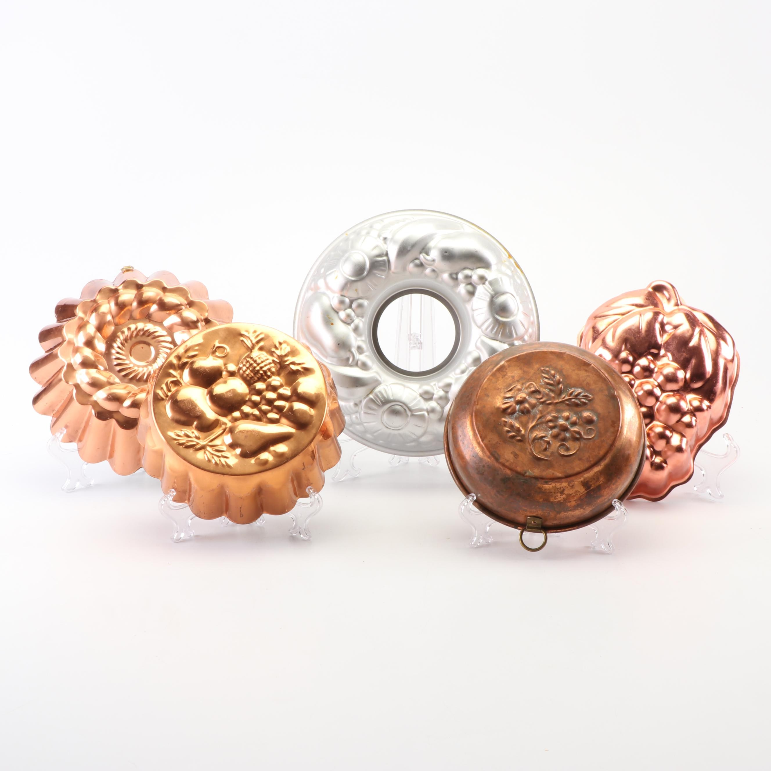 Copper and Metal Baking Molds featuring Wear-Ever