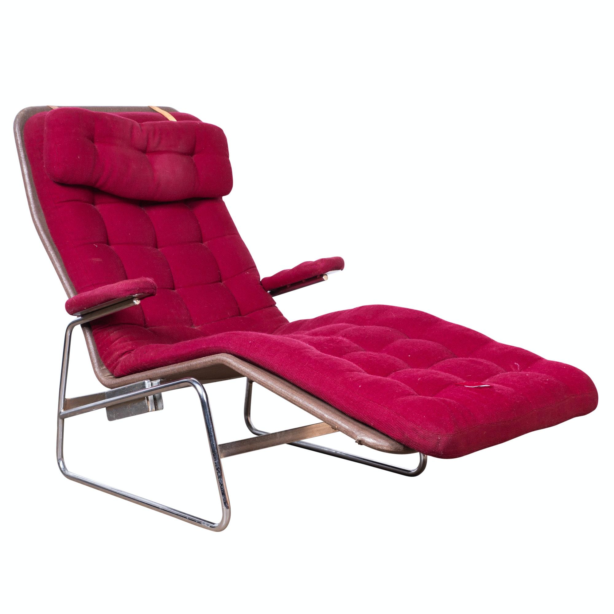 """Fenix"" Chromed Tubular Lounge Chair by Sam Larsson for DUX, Mid-20th Century"