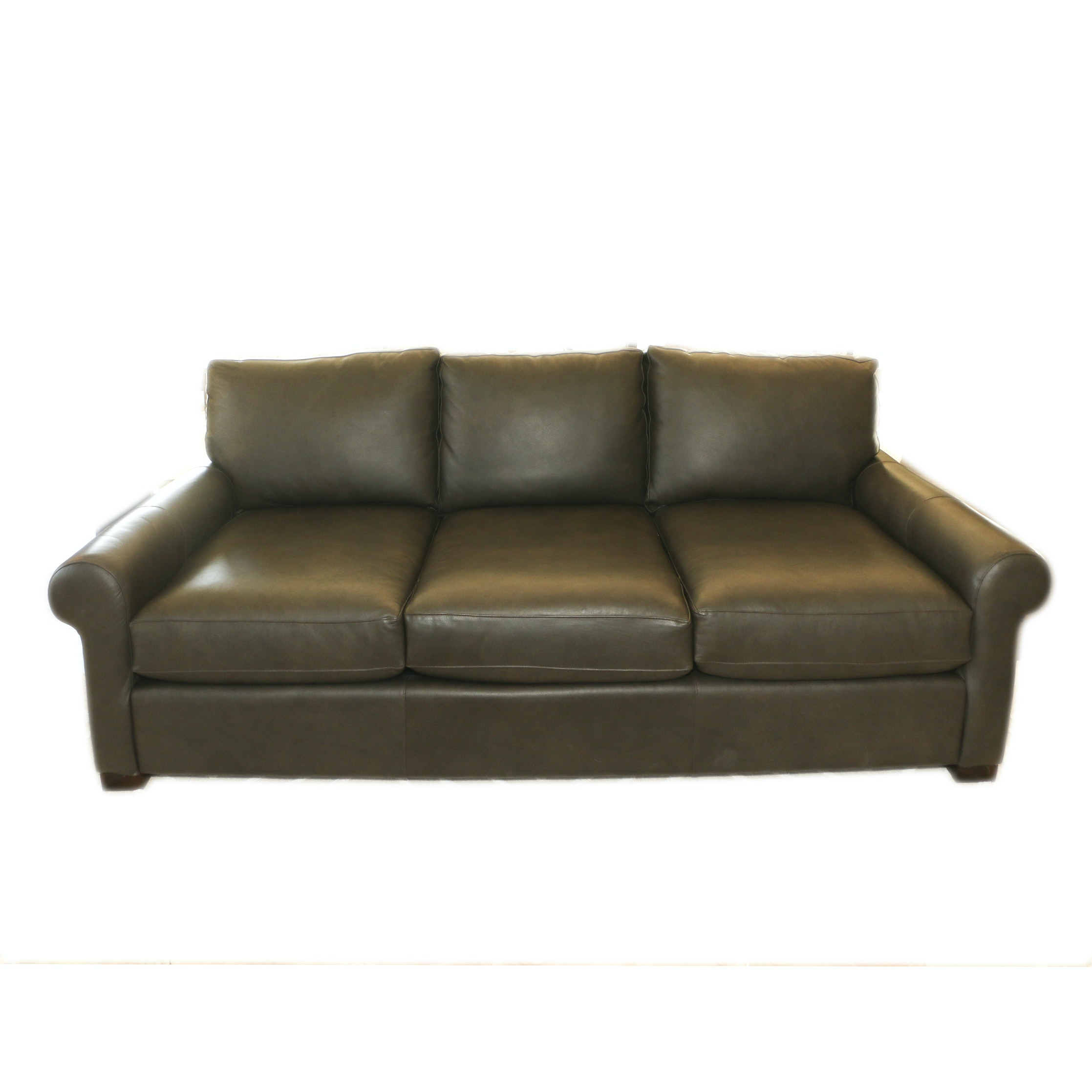 Contemporary Faux Leather Sofa