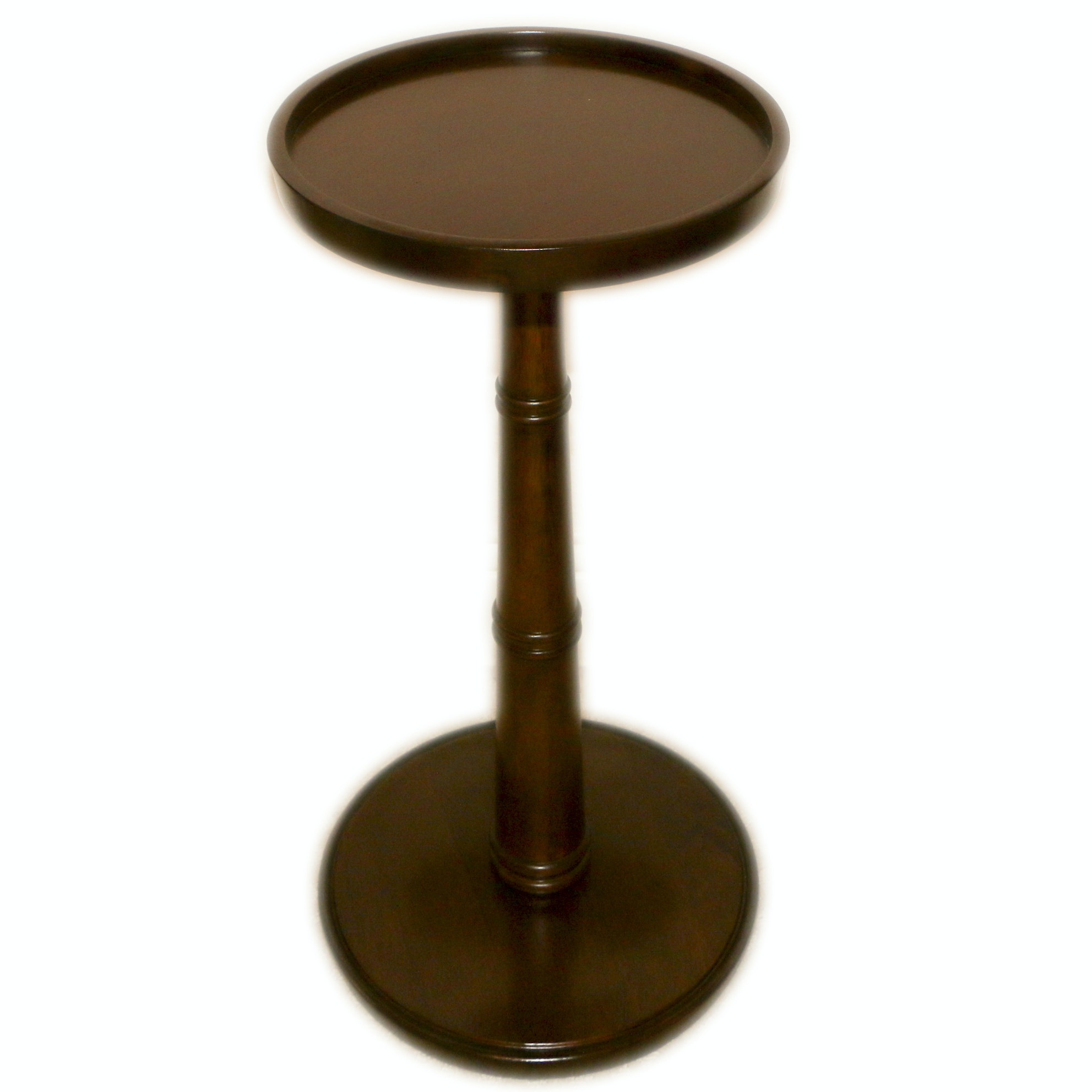 Contemporary Wood Pedestal Side Table by Bassett Furniture
