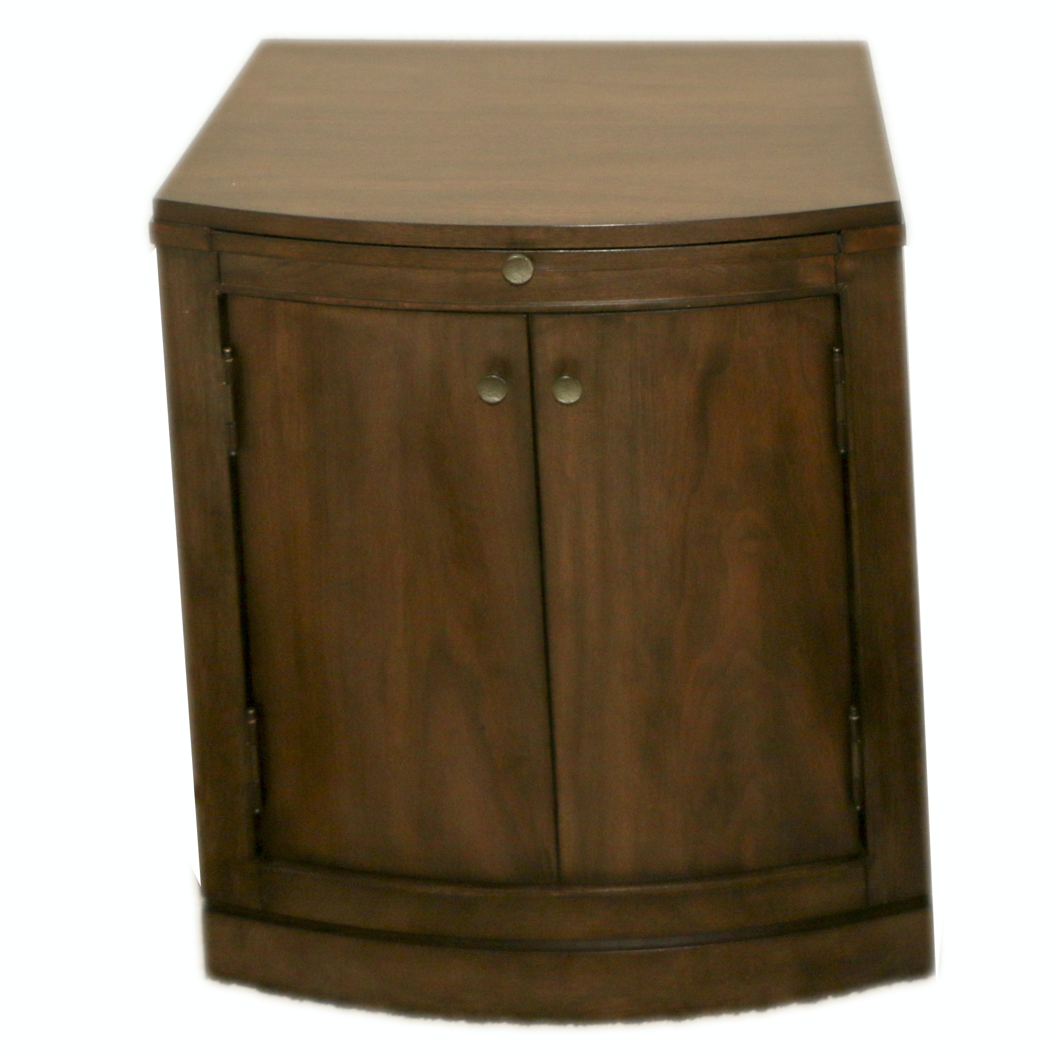 Contemporary Mahogany Laminate Side Table