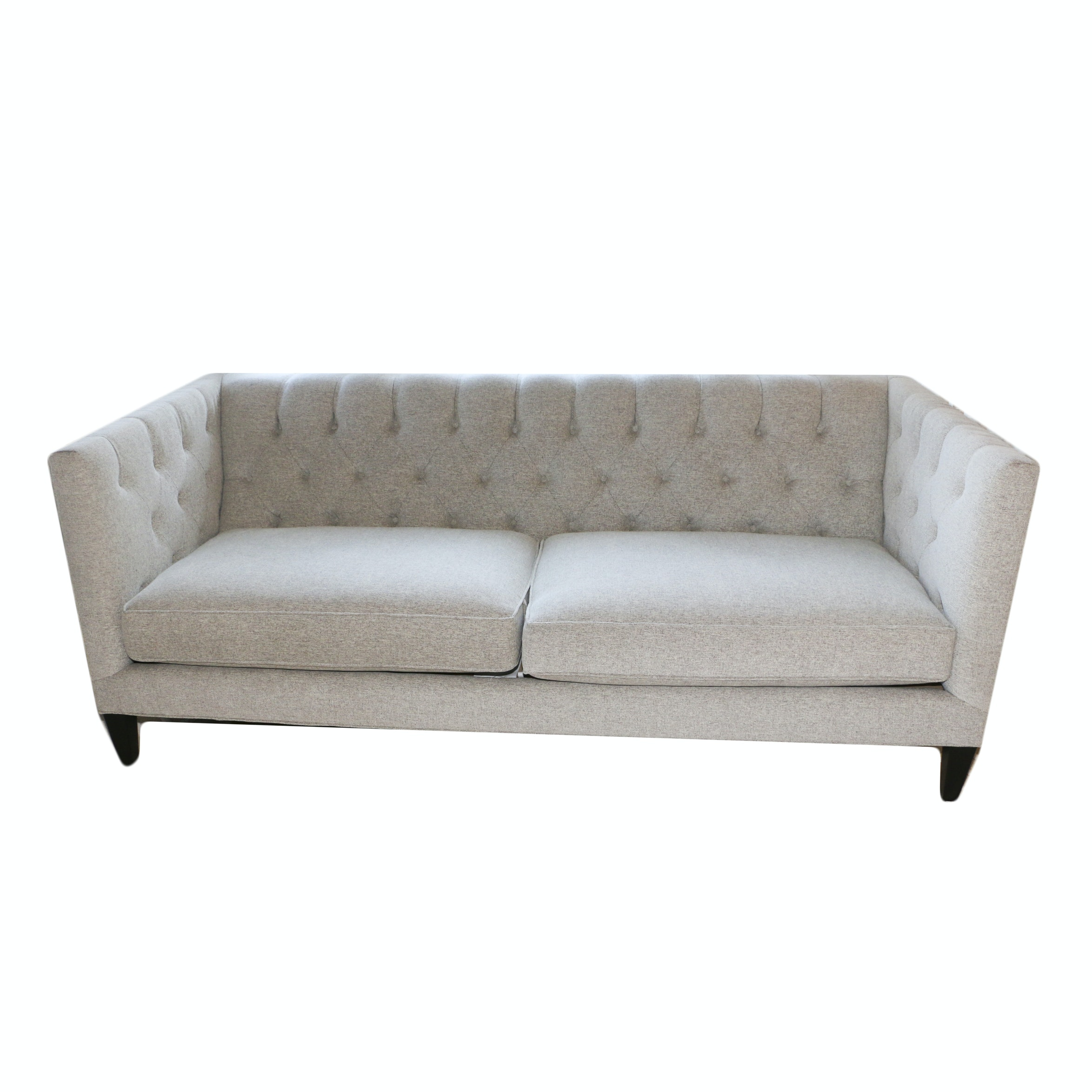 Contemporary Upholstered Tuxedo Sofa