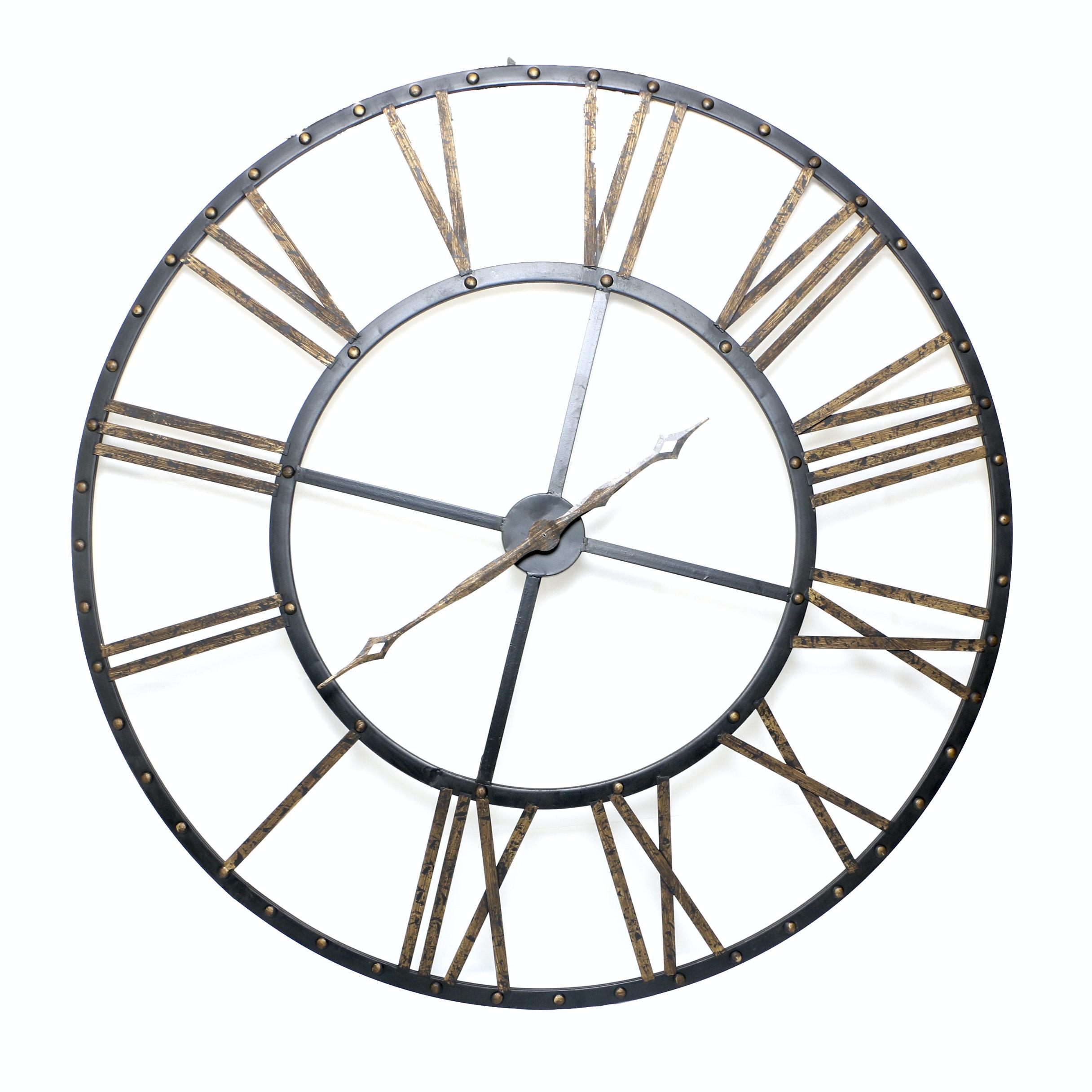 Oversized Skeleton Style Wall Clock