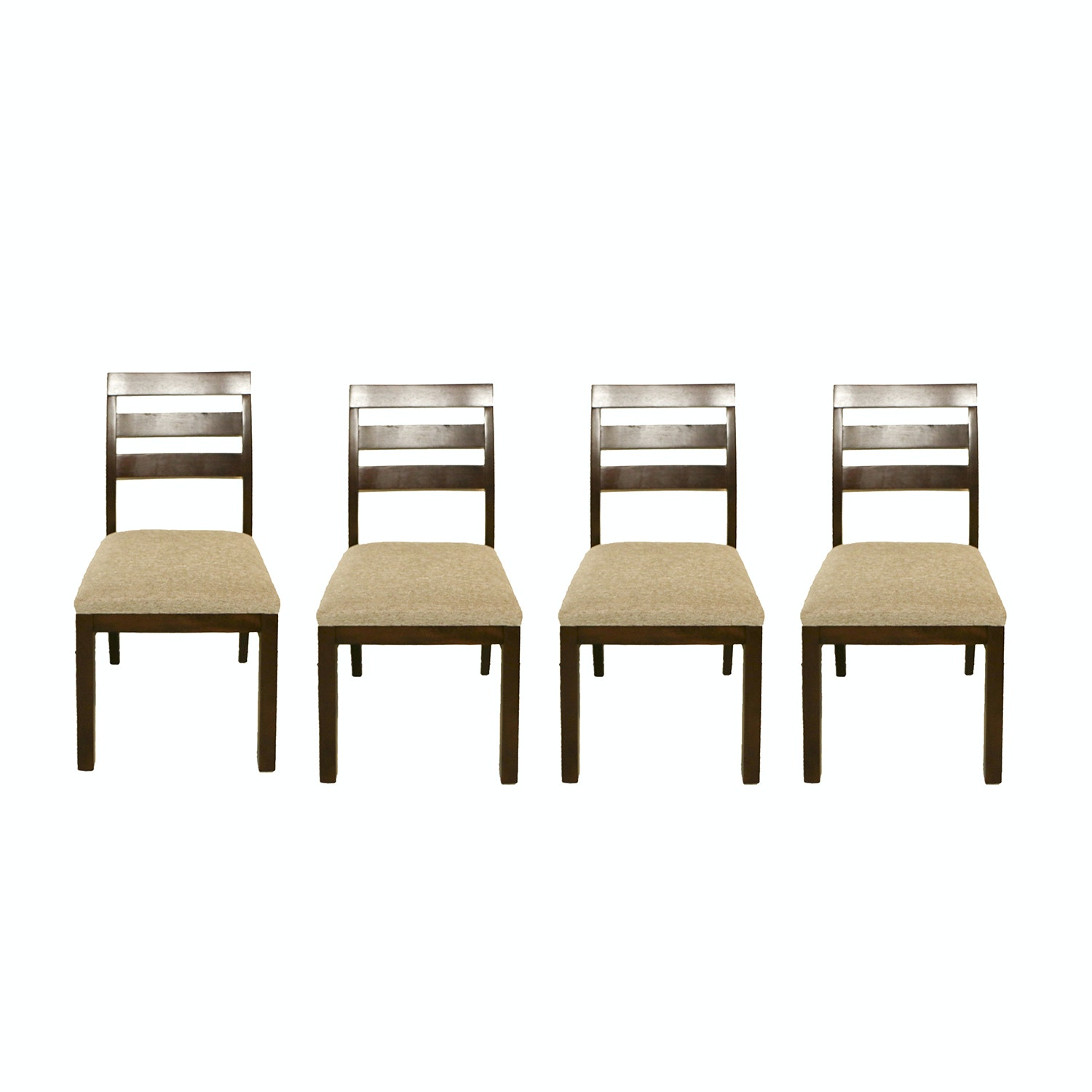 """Dabney"" Ash Ladder Back Side Chairs by Coaster, 2017"