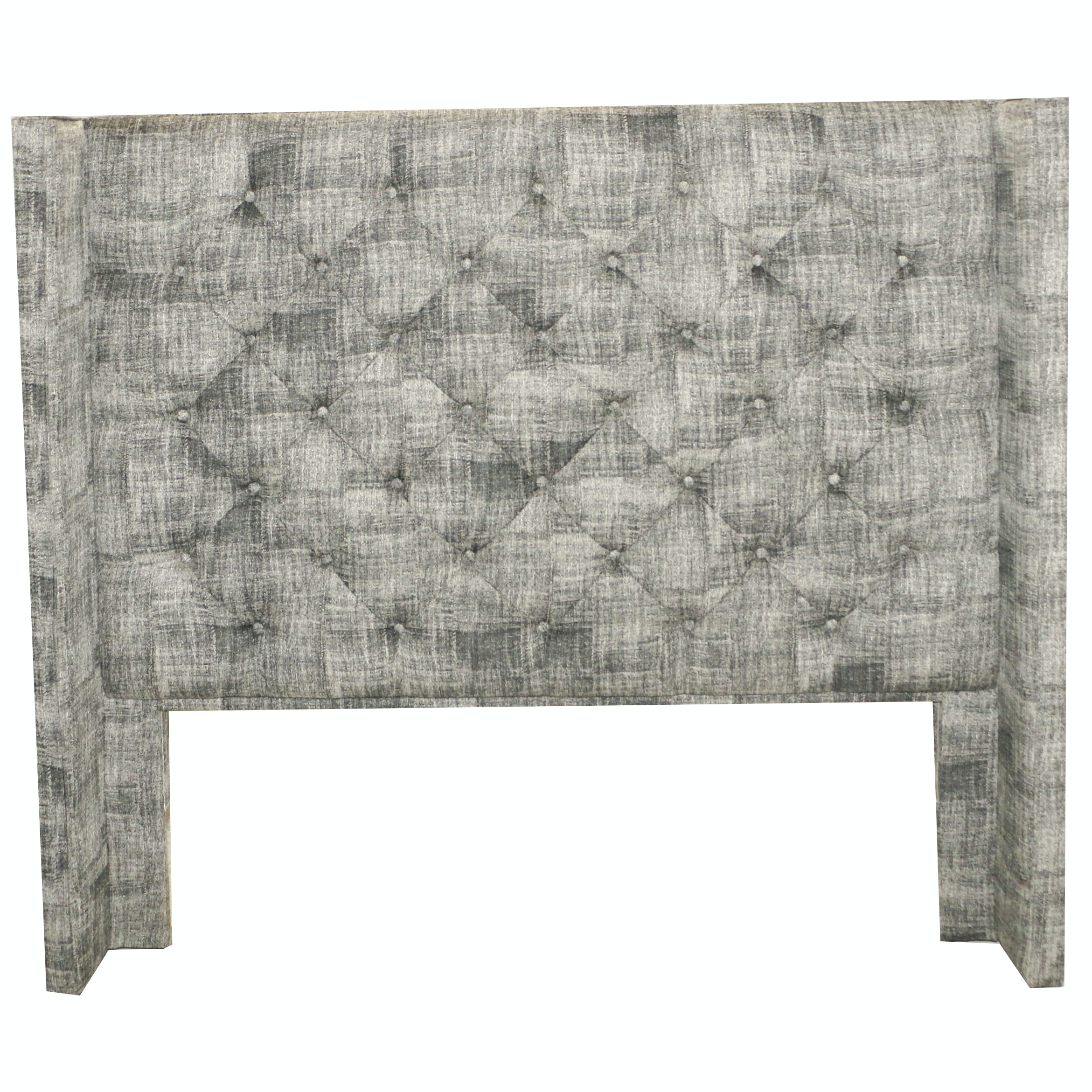 Contemporary Button-Tufted Upholstered Queen Size Headboard