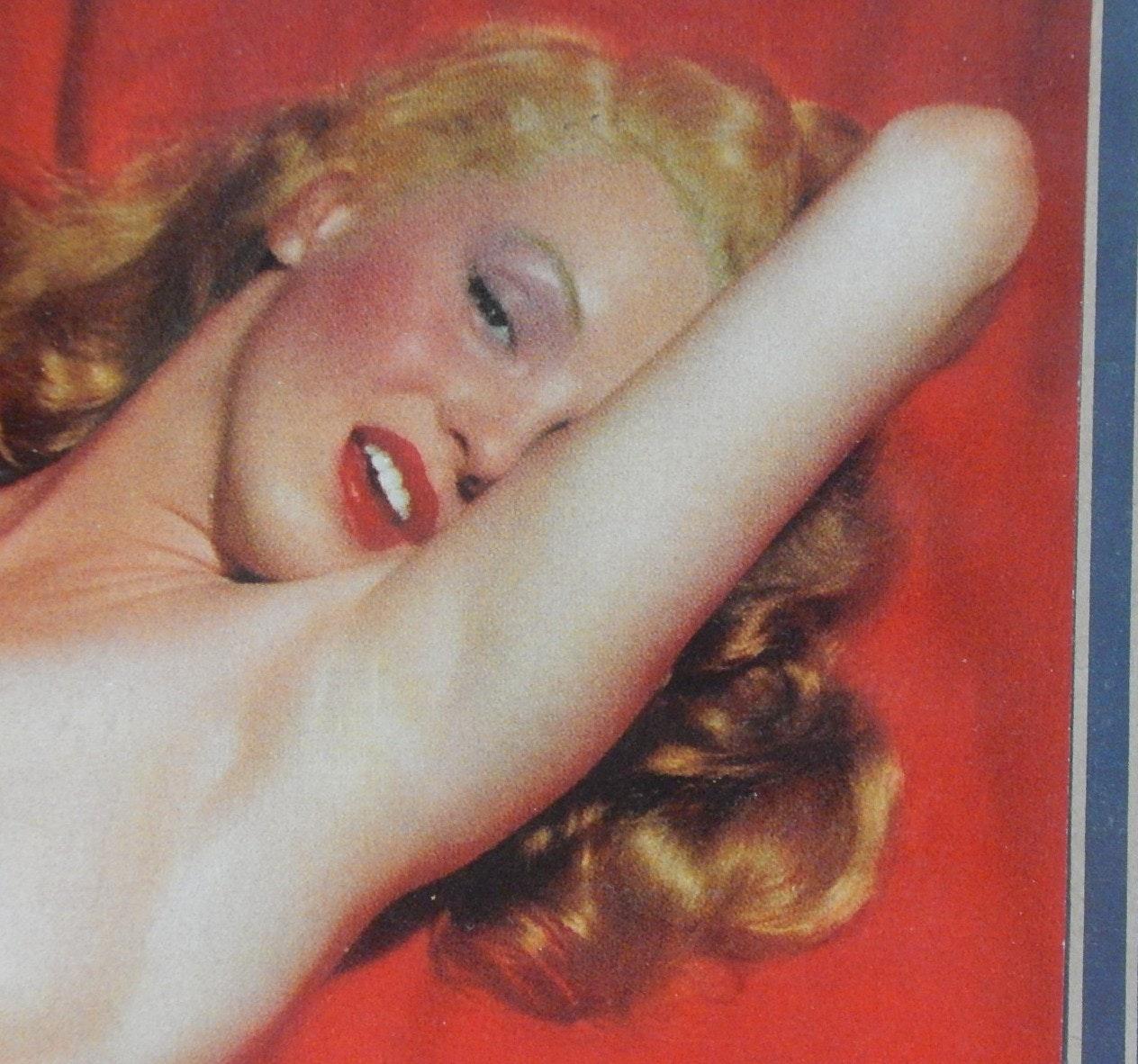 Framed 1953 Marilyn Monroe Pin-Up Good Year Advertising Calendar