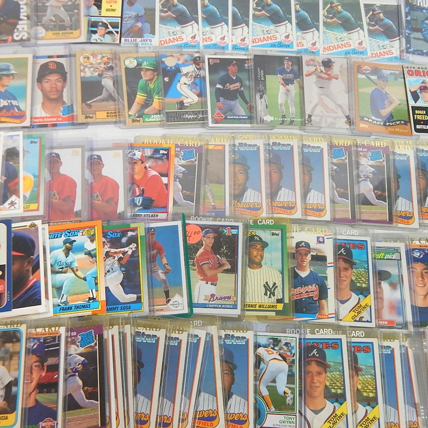 Star Rookie Card Baseball Cards With Gwynn Glaven Jeter Bonds