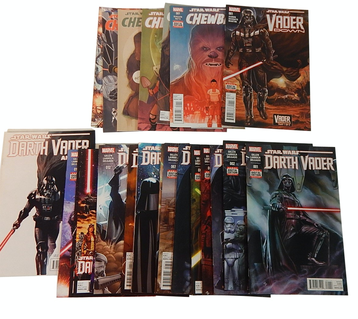 "Modern Age Marvel ""Star Wars: Darth Vader"", ""Chewbacca"" Comic Books"