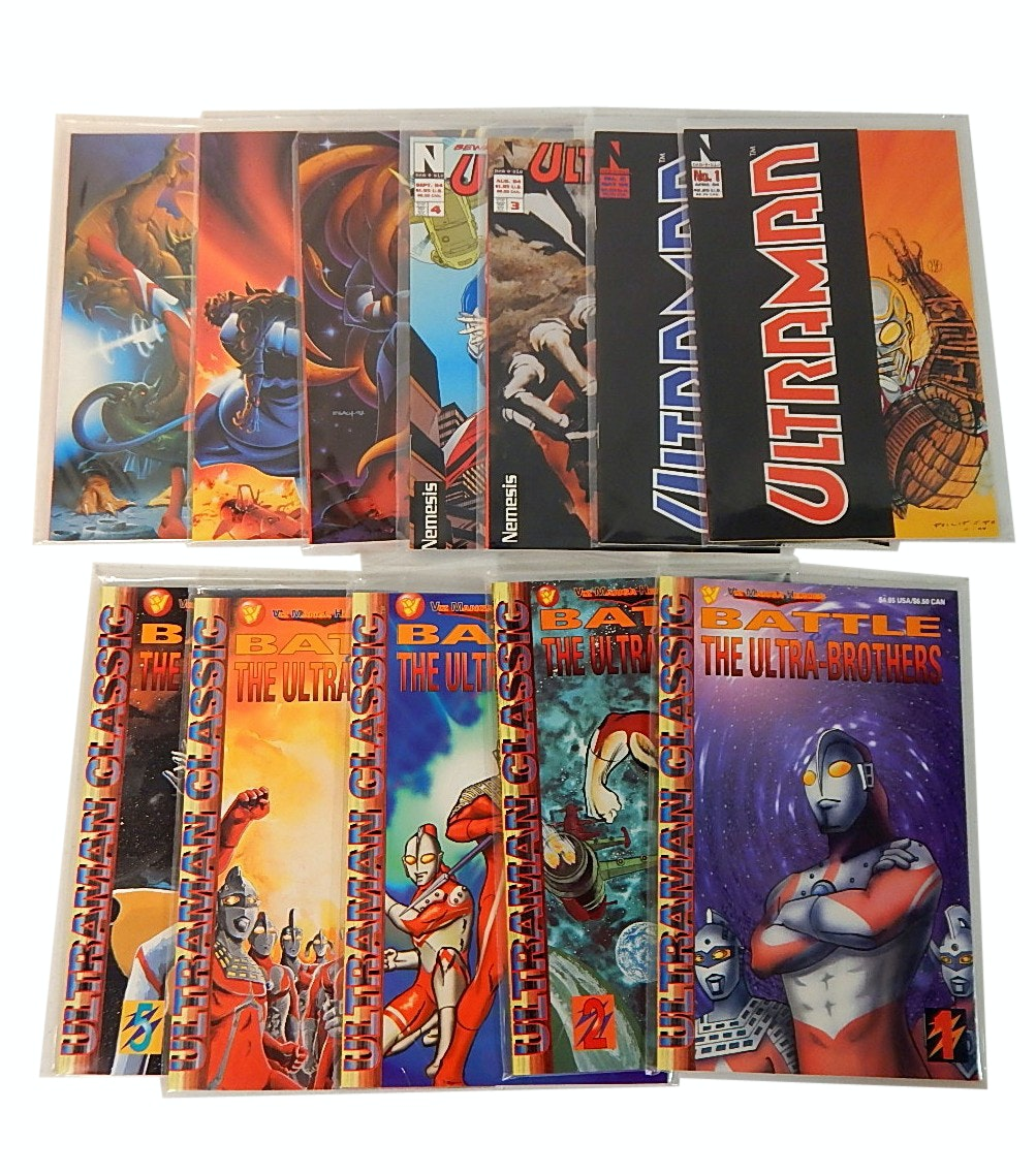 "Modern Age Viz Comics with ""Ultraman"" and ""Battle of the Ultra-Brothers"""