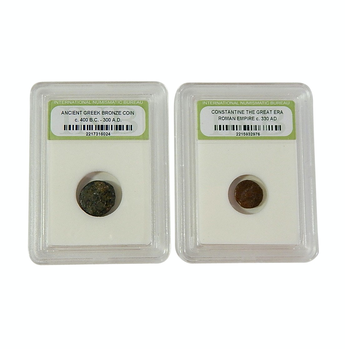 Ancient Greek and Constantine Bronze Coin Specimens