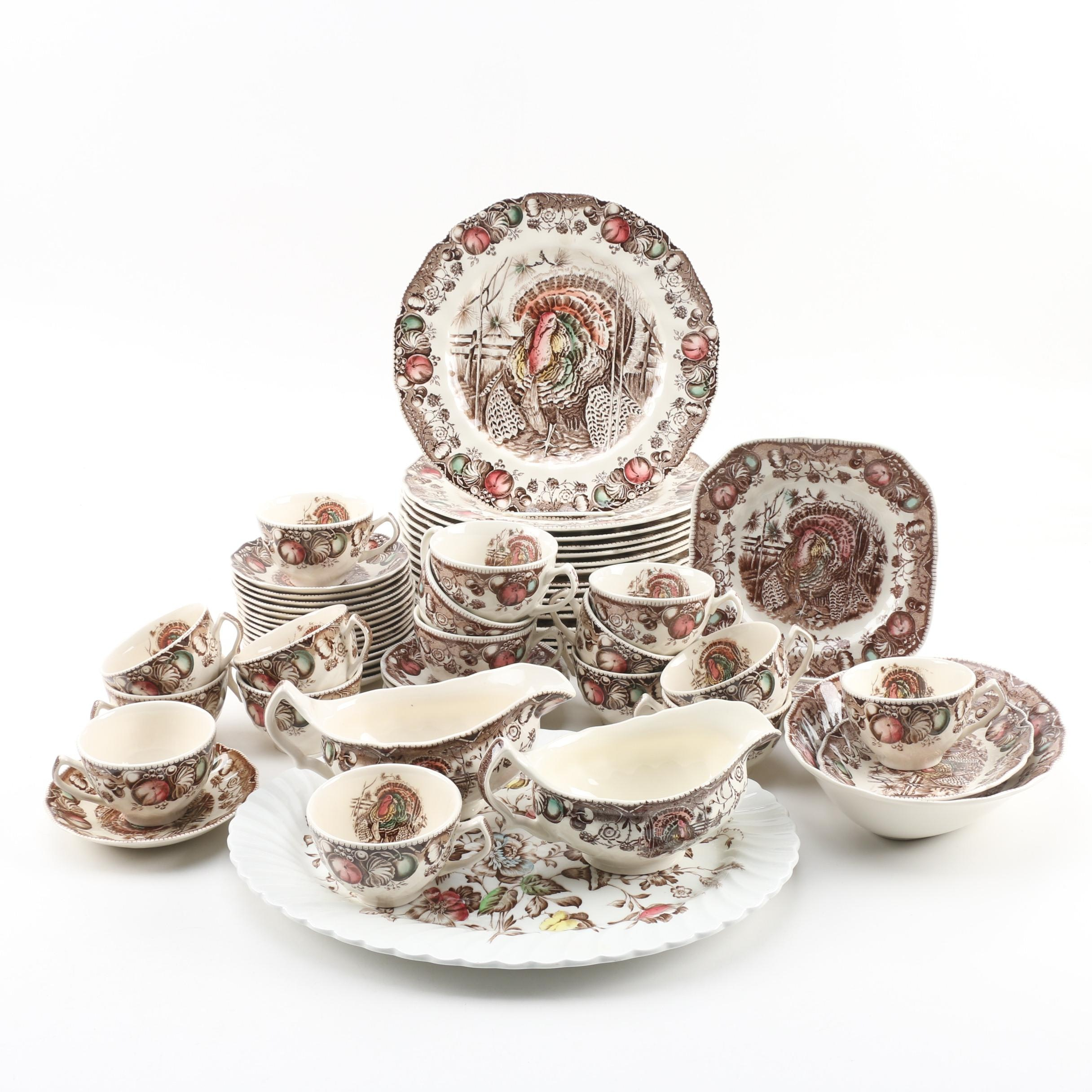 """Johnson Brothers """"His Majesty"""" Earthenware Dinnerware"""