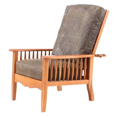 National Geographic Home Collection Folding Leather Chair