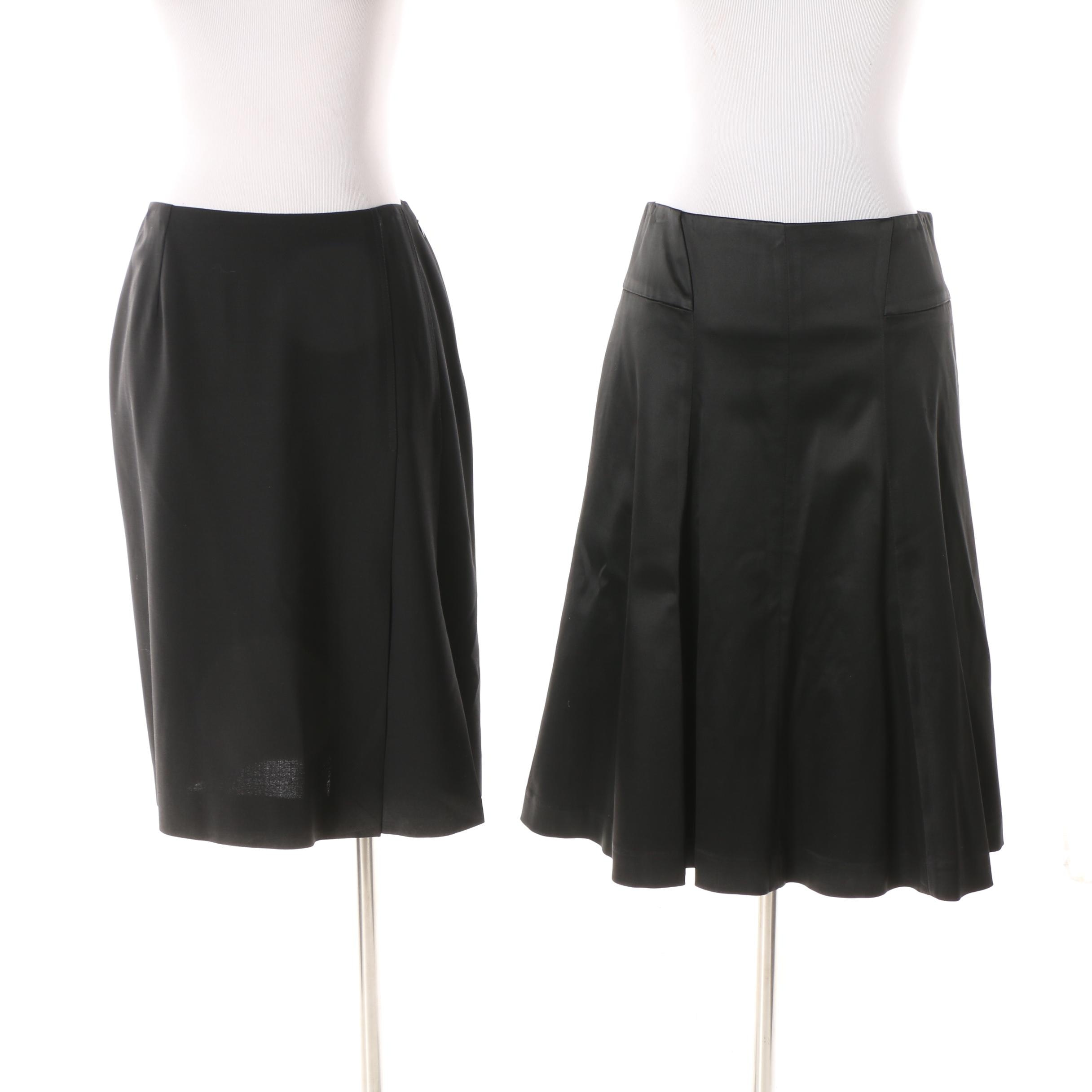 Dolce & Gabbana Black Pencil Skirt and Theory Black A-Line Skirt