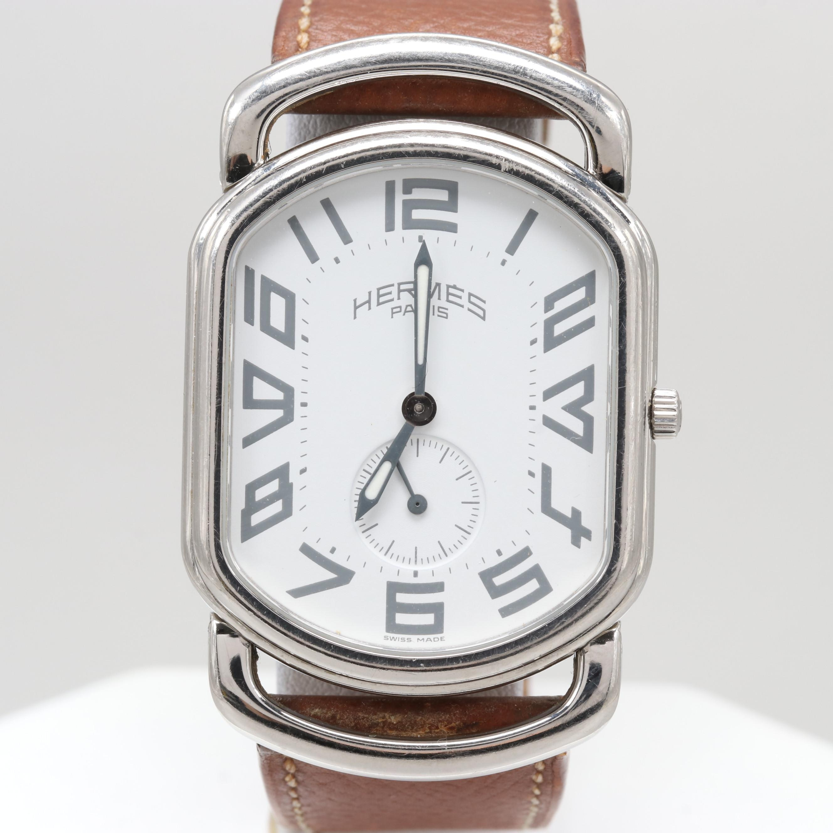 Hermes Rally Model RA1.810 Quartz Wristwatch