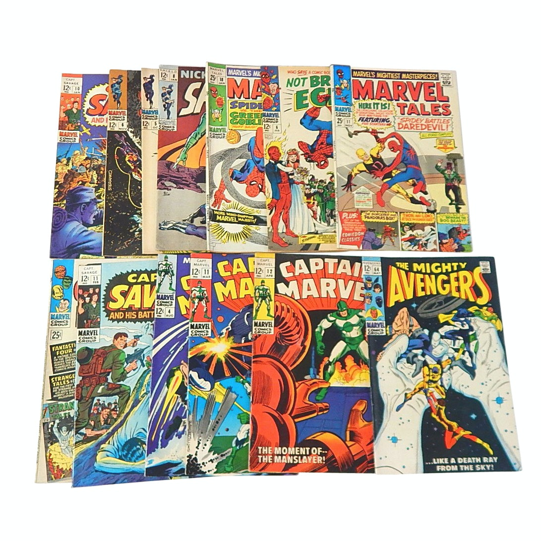 "Silver Age Marvel and Shield Comics with ""Captain Marvel"" and More"