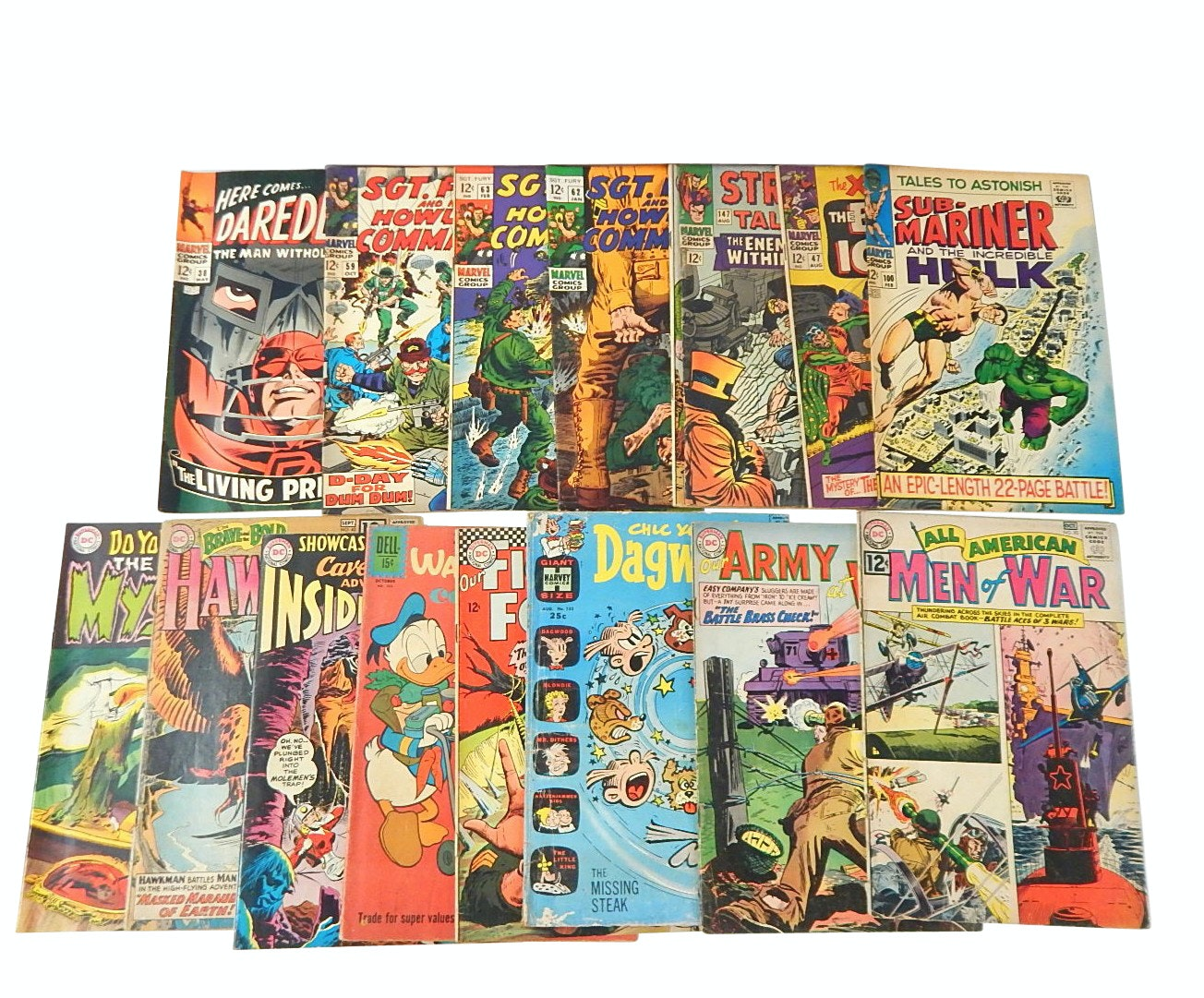 Silver Age Marvel, DC Comics, and Dell Comic Books with Sub-Mariner