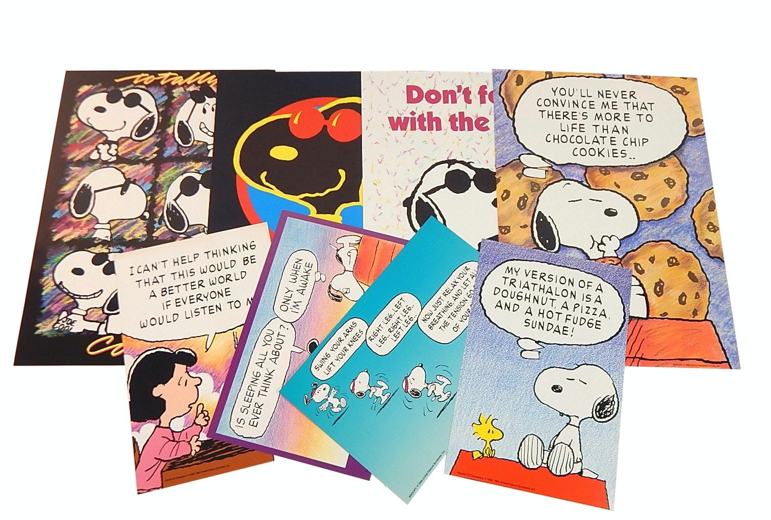 "Vintage Peanuts with Snoopy ""Joe Cool"" Cardstock Posters"
