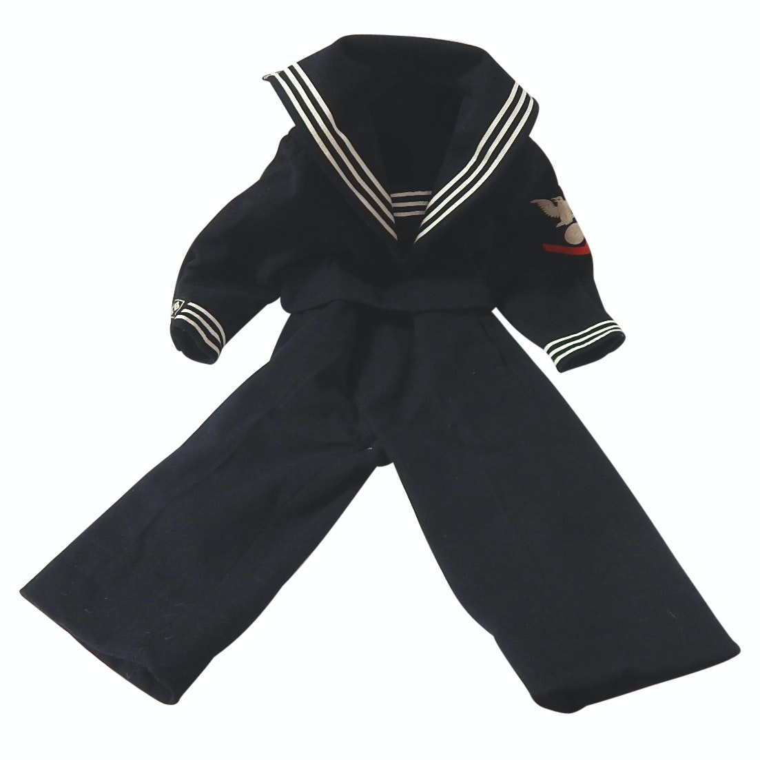 """Childs Vintage Navy """"CB"""" Uniform with Shirt and Pants"""