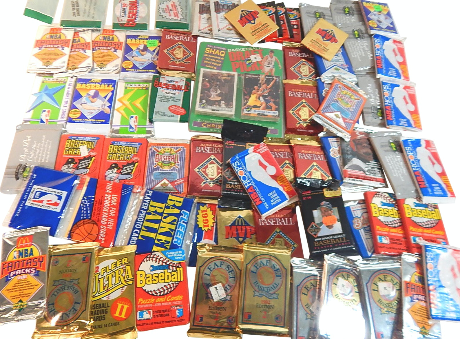 Large Collection of Unopened Packs of Baseball, Basketball, and Football Cards