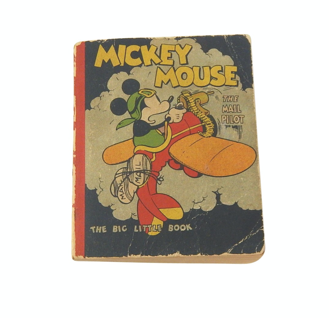 "1933 Walt Disney ""Mickey Mouse: The Mail Pilot"" Big Little Book"