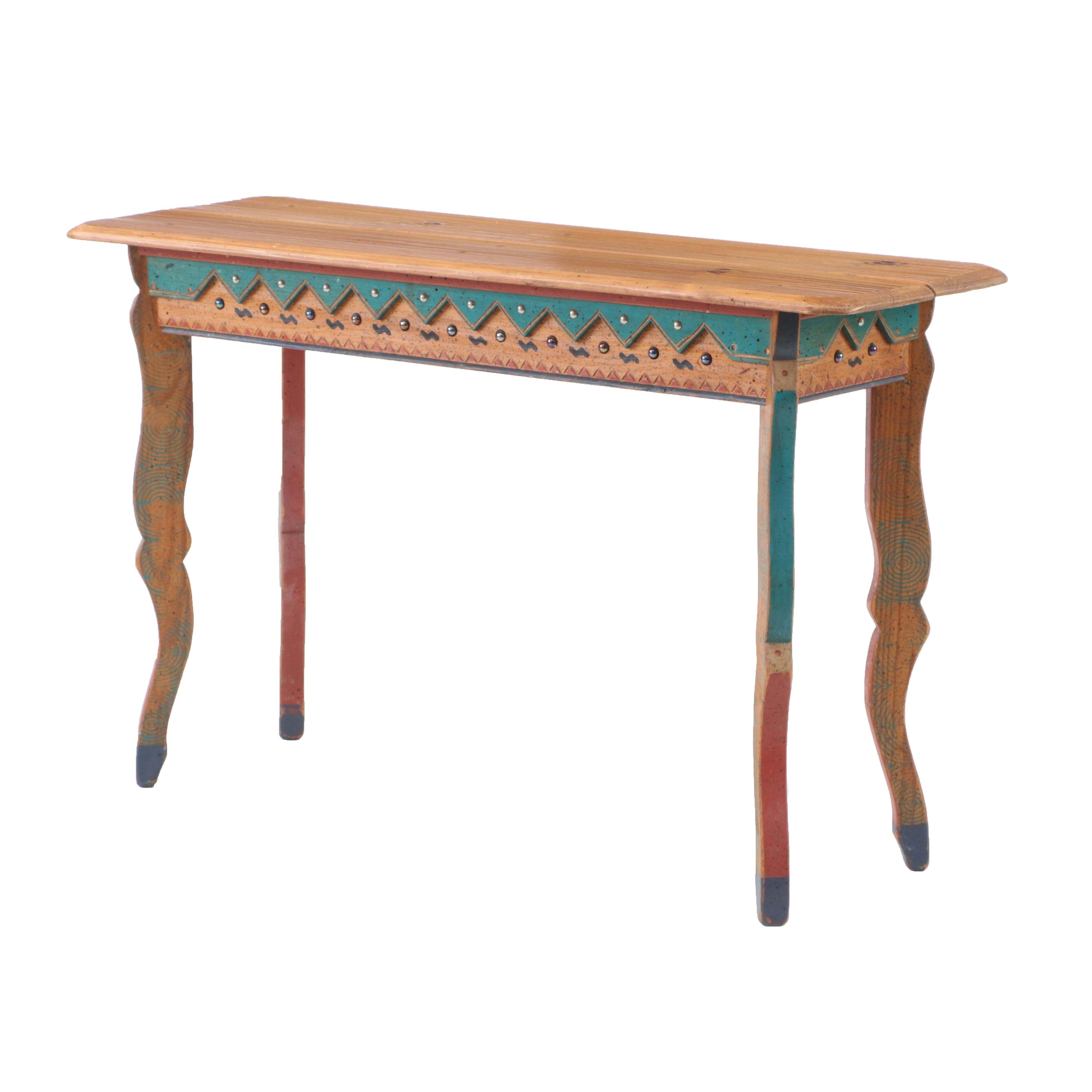 David Marsh Painted Pine Sofa Table