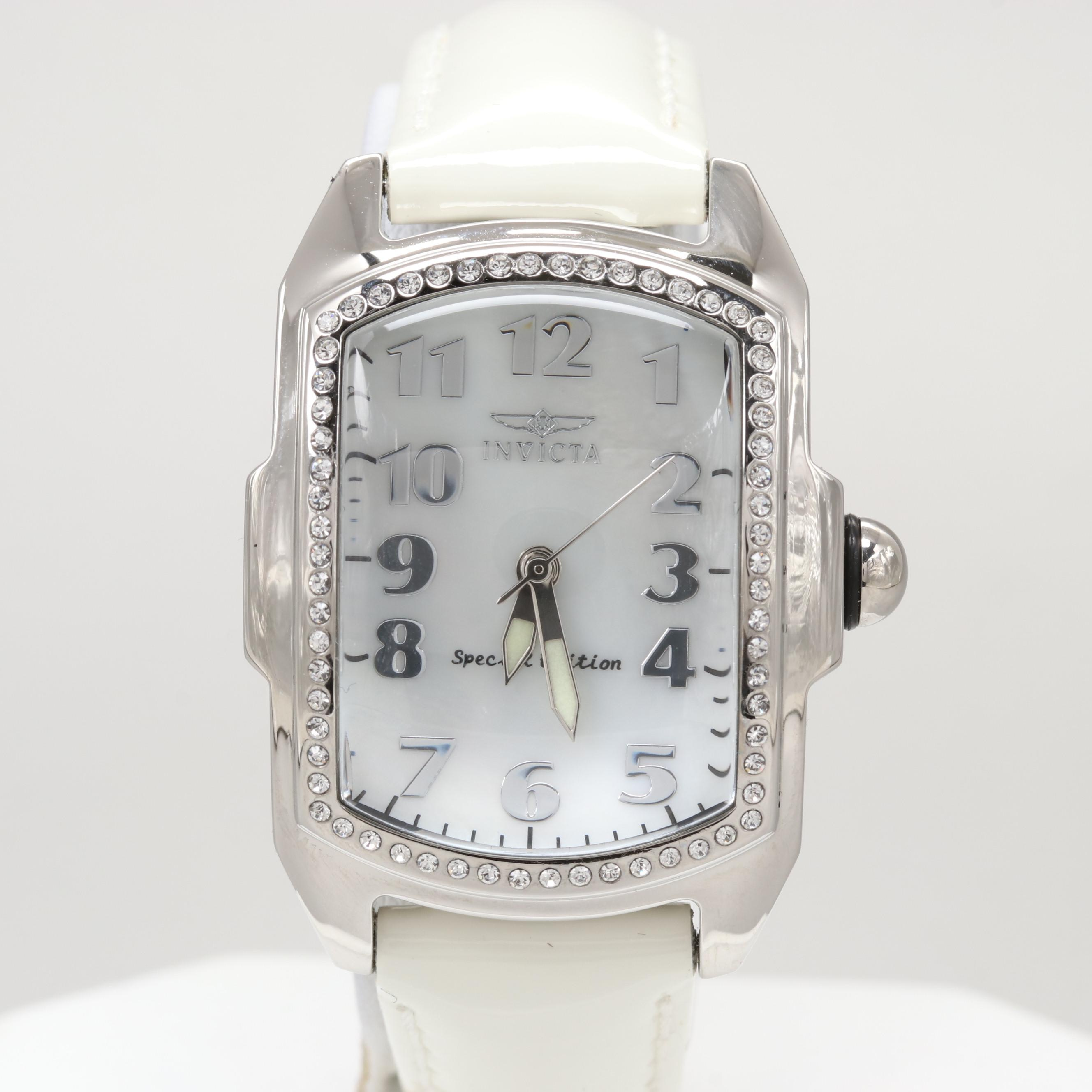 Invicta Lupah Quartz Wristwatch With Mother of Pearl Dial