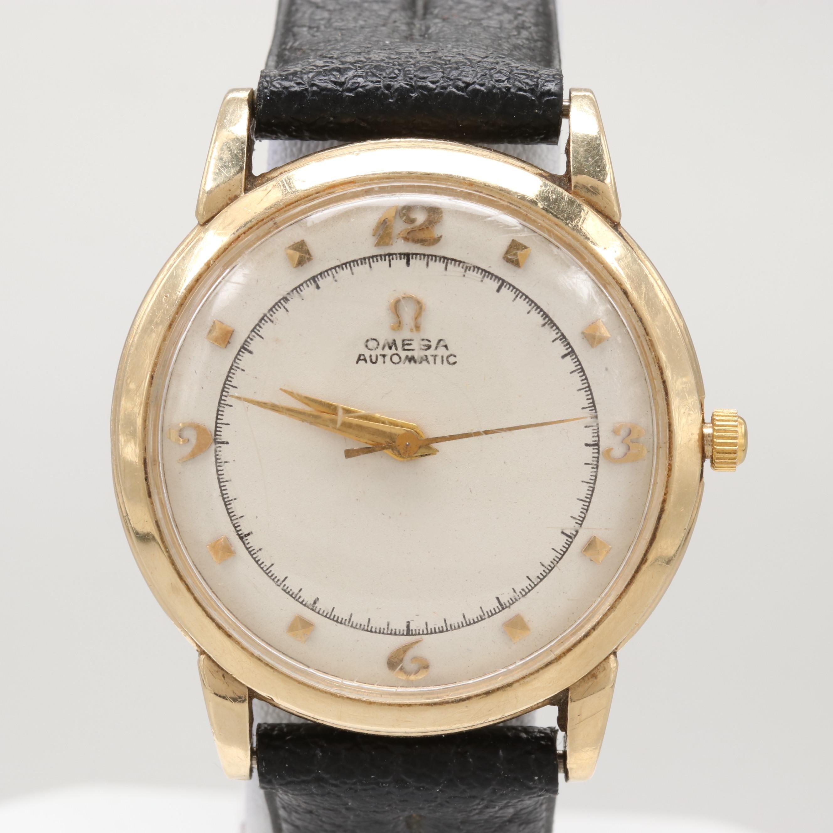 Omega 14K Yellow Gold Automatic Wristwatch